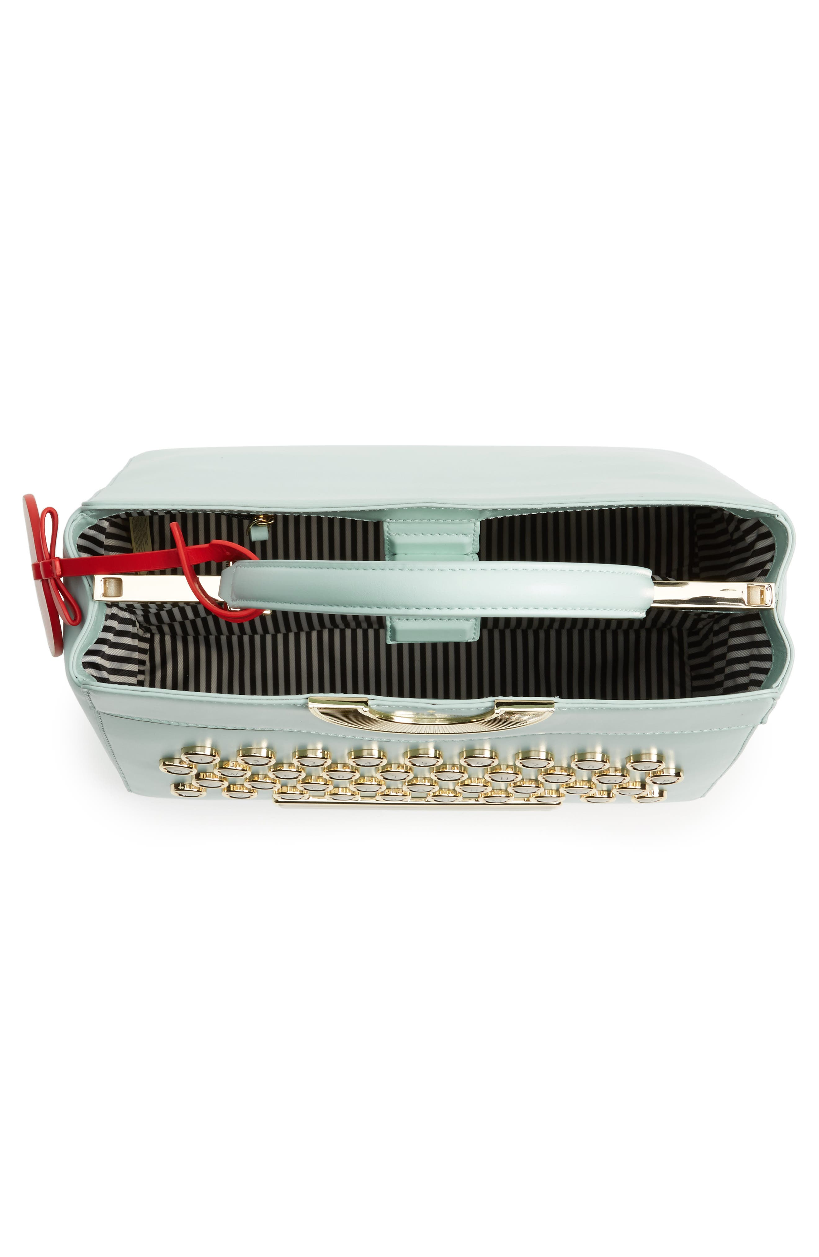 be mine - typewriter leather satchel,                             Alternate thumbnail 5, color,                             474