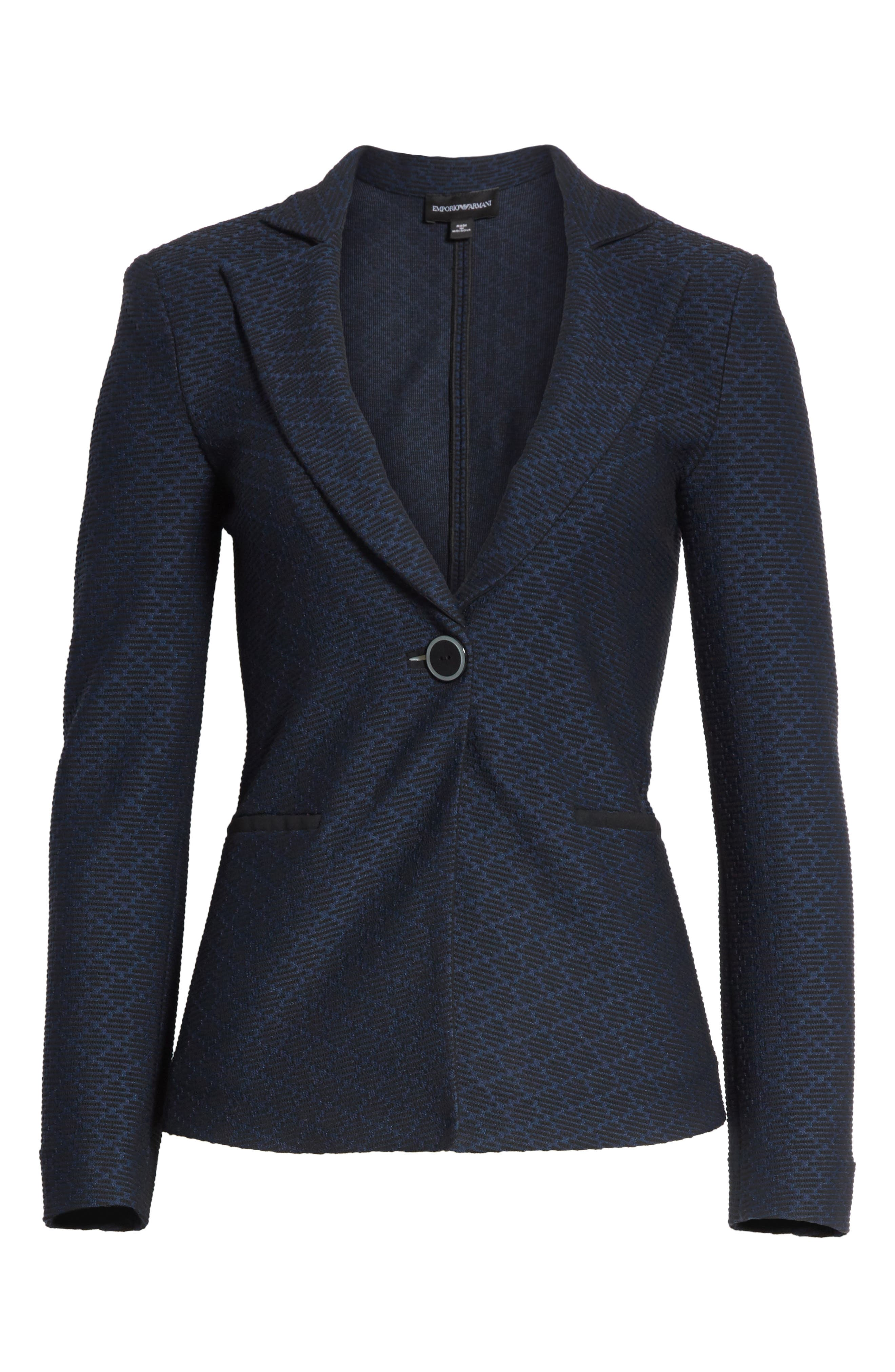 Diamond Jacquard Blazer,                             Alternate thumbnail 5, color,                             400