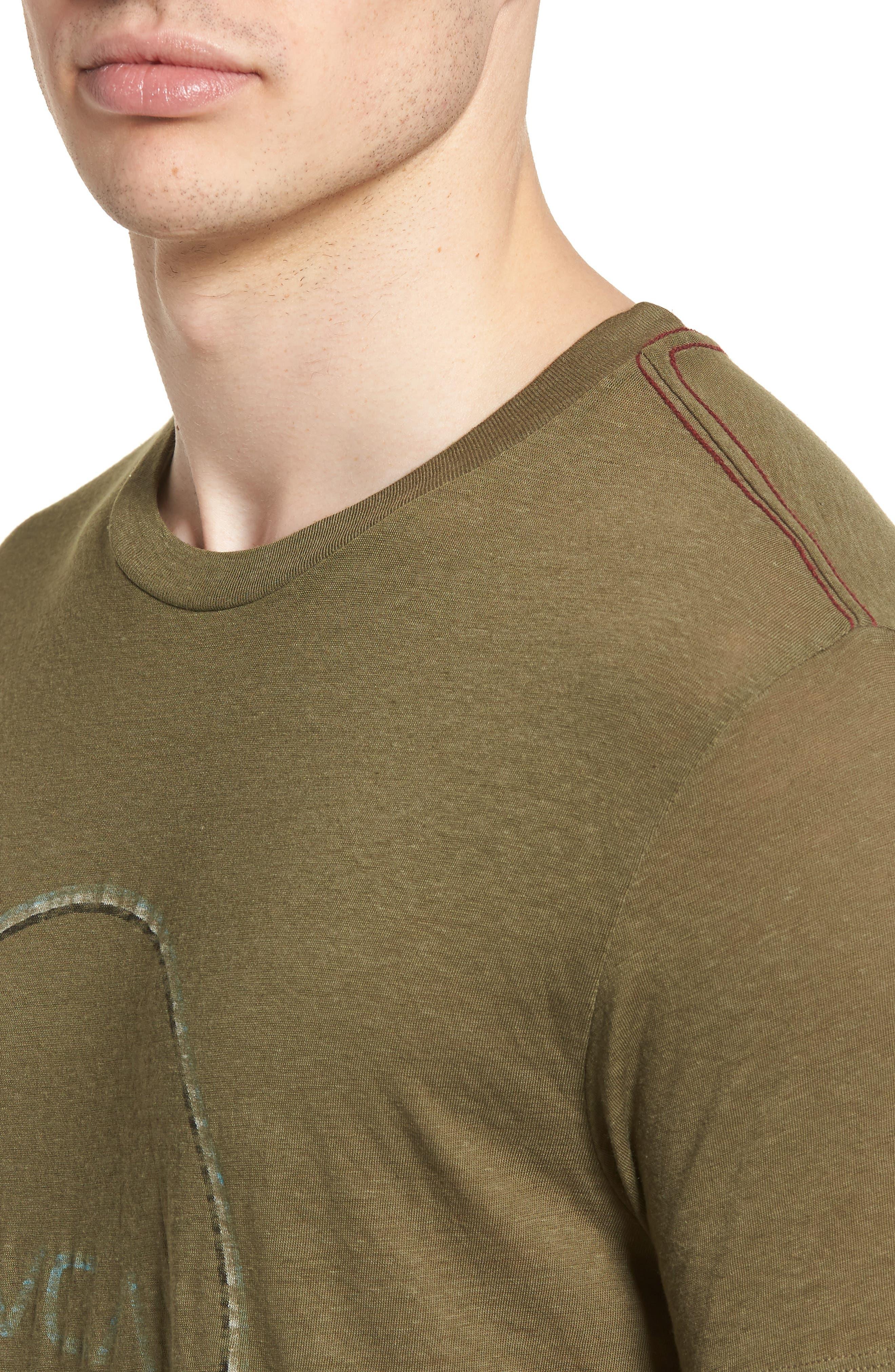 Tri Motors Burnout Graphic T-Shirt,                             Alternate thumbnail 4, color,                             340