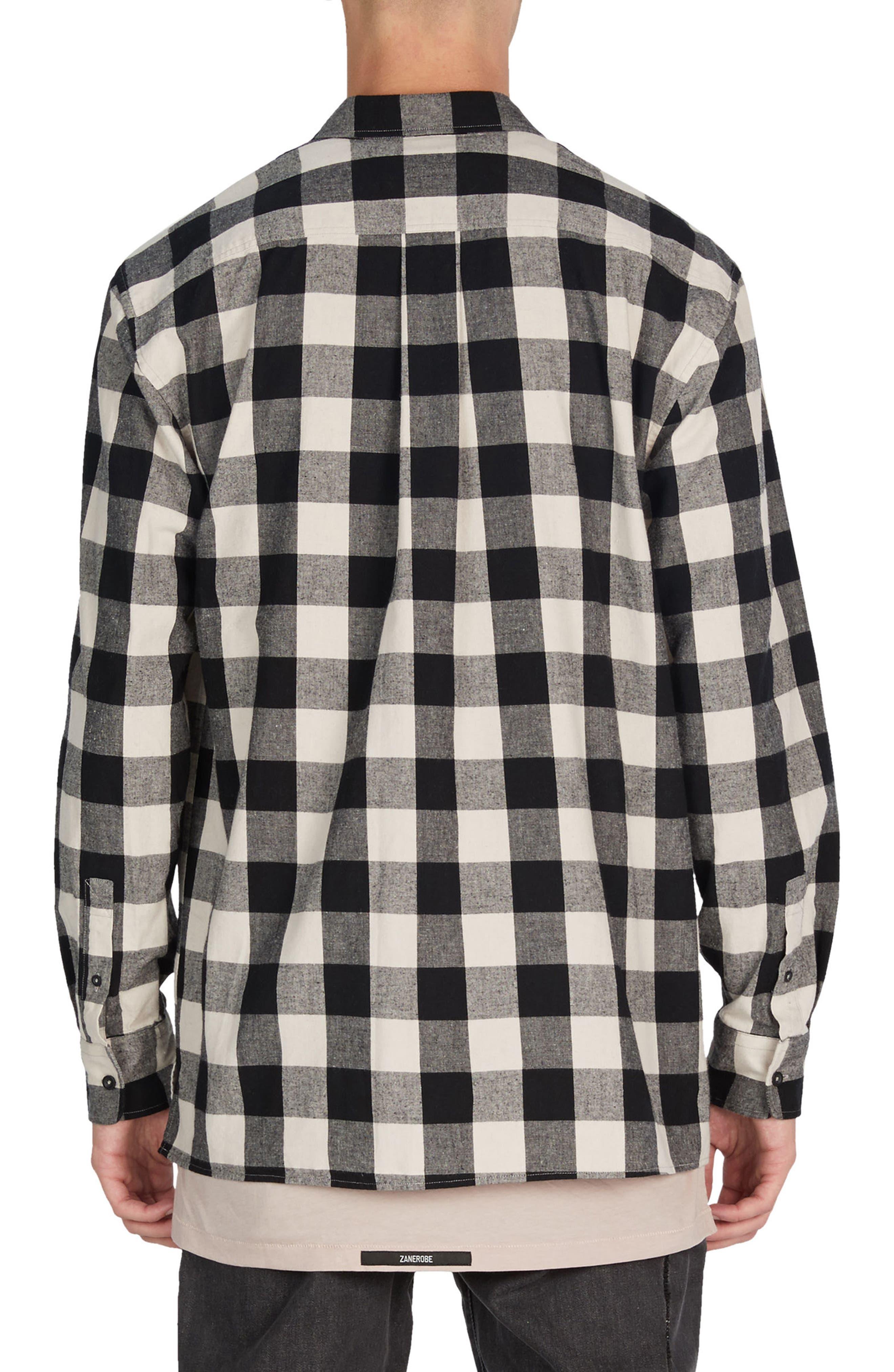 Flannel Box Shirt,                             Alternate thumbnail 3, color,