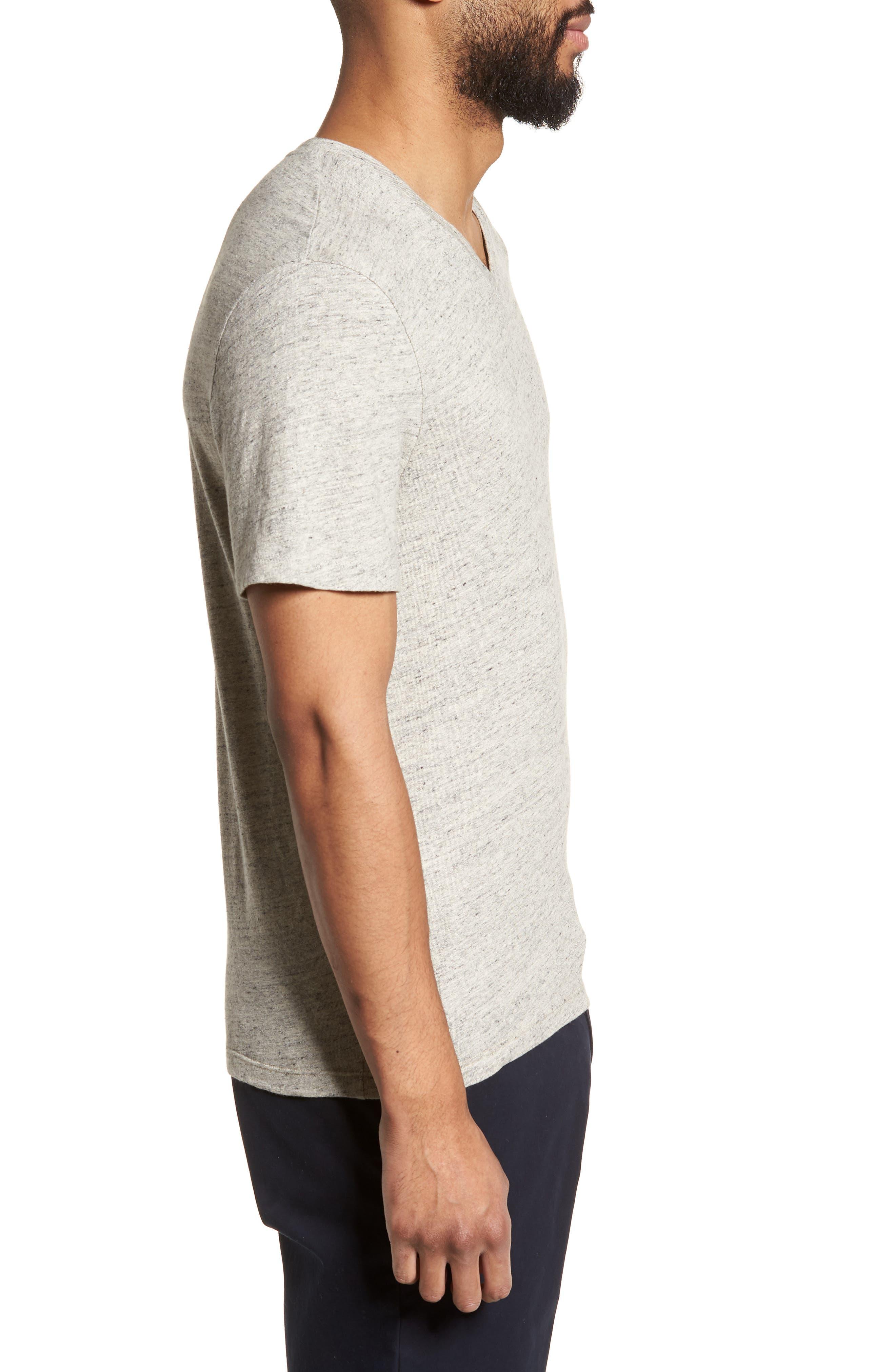 Slim Fit V-Neck T-Shirt,                             Alternate thumbnail 3, color,                             020