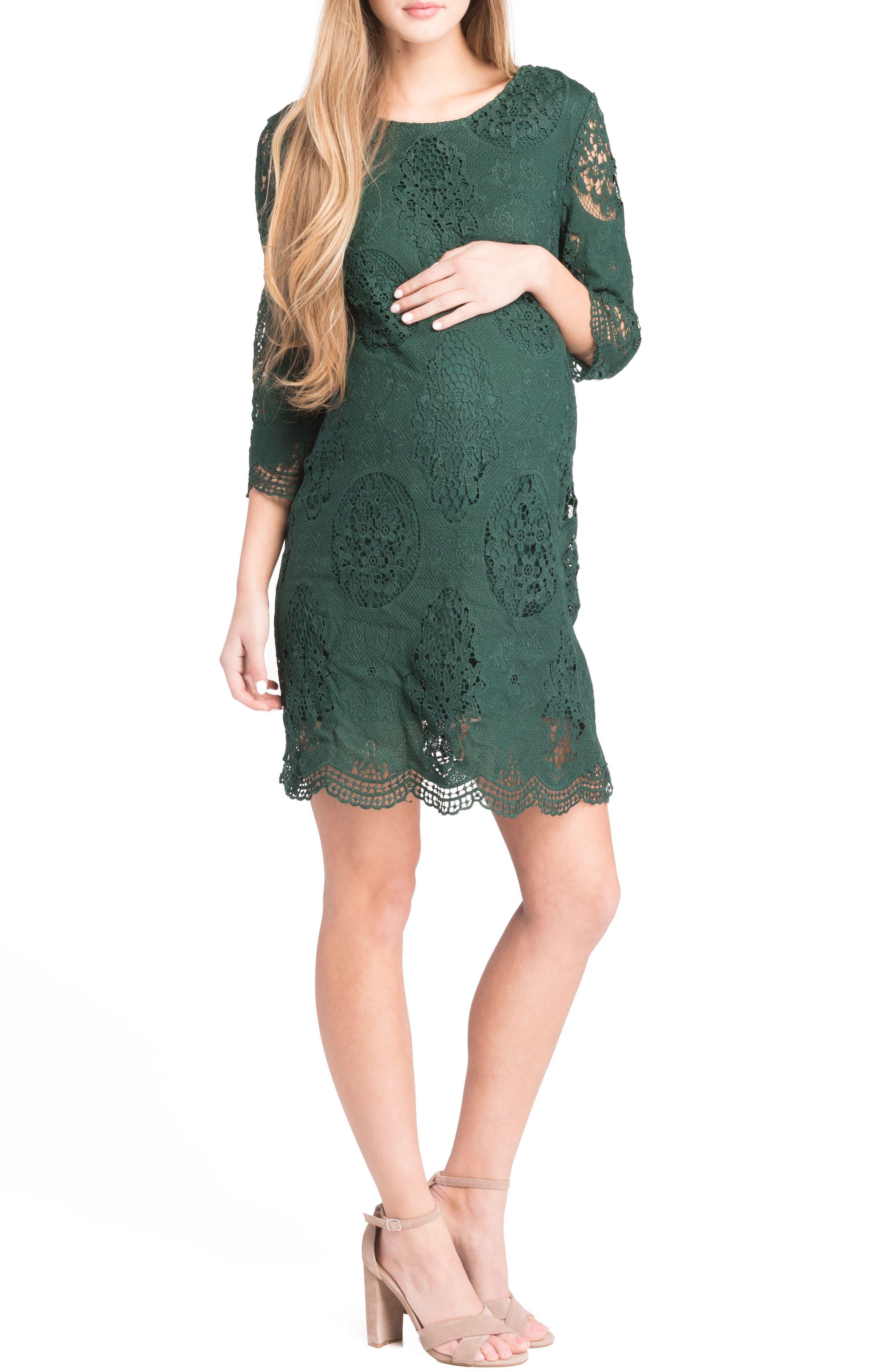 Lace Maternity Dress,                             Alternate thumbnail 11, color,