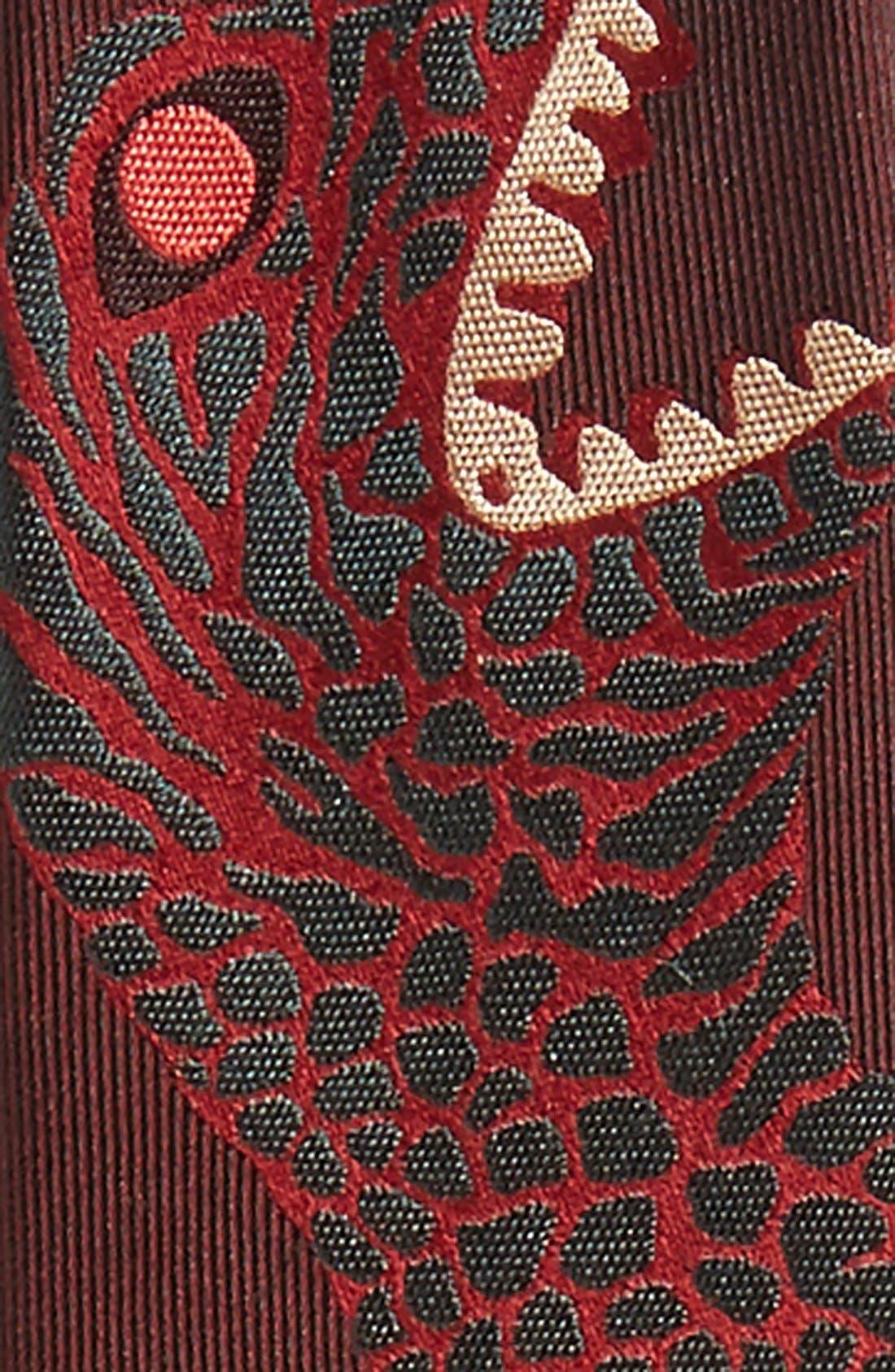 'Dinosaur' Silk Skinny Tie,                             Alternate thumbnail 4, color,                             200