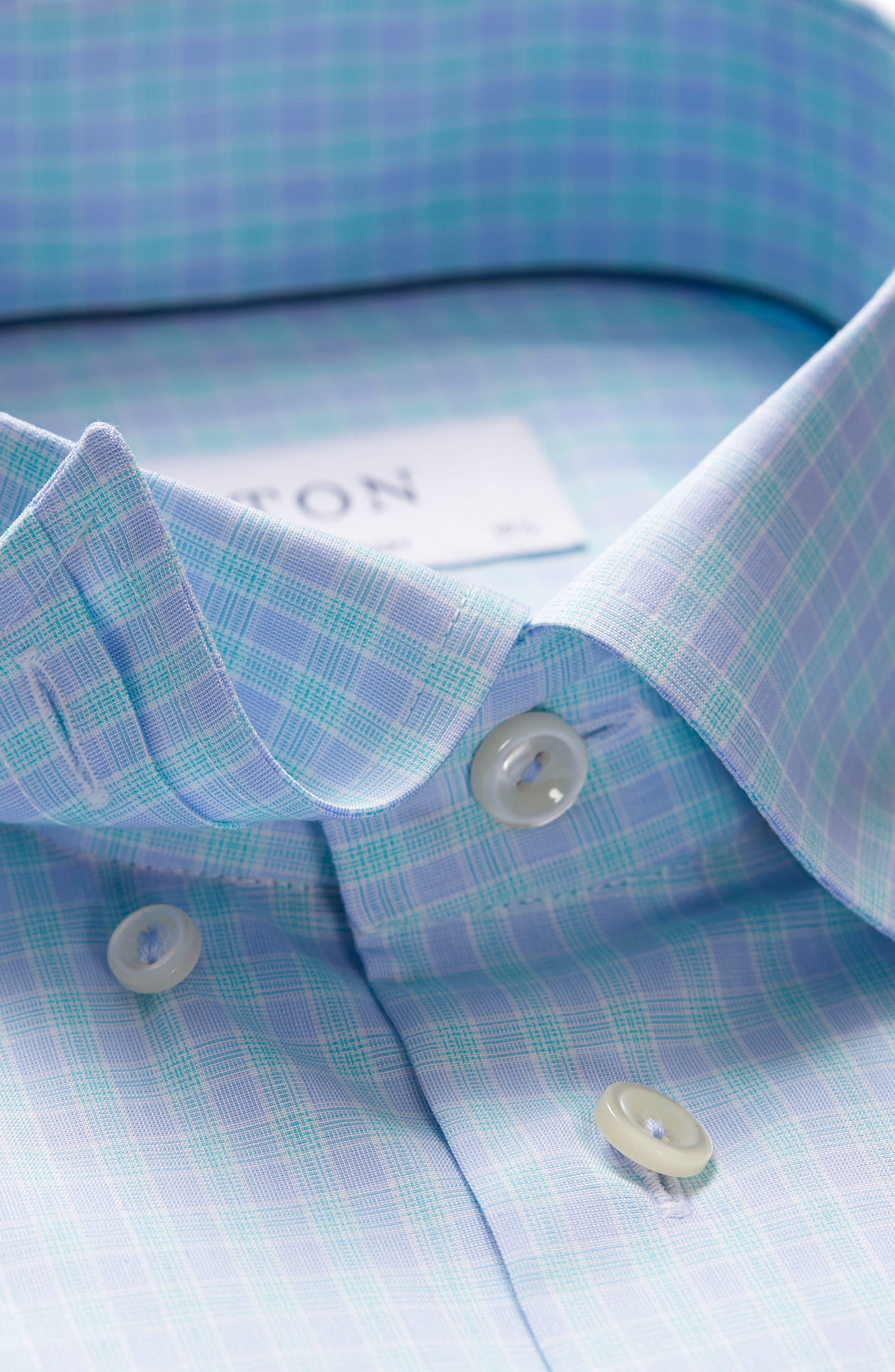 Contemporary Fit Plaid Dress Shirt,                             Alternate thumbnail 7, color,                             400