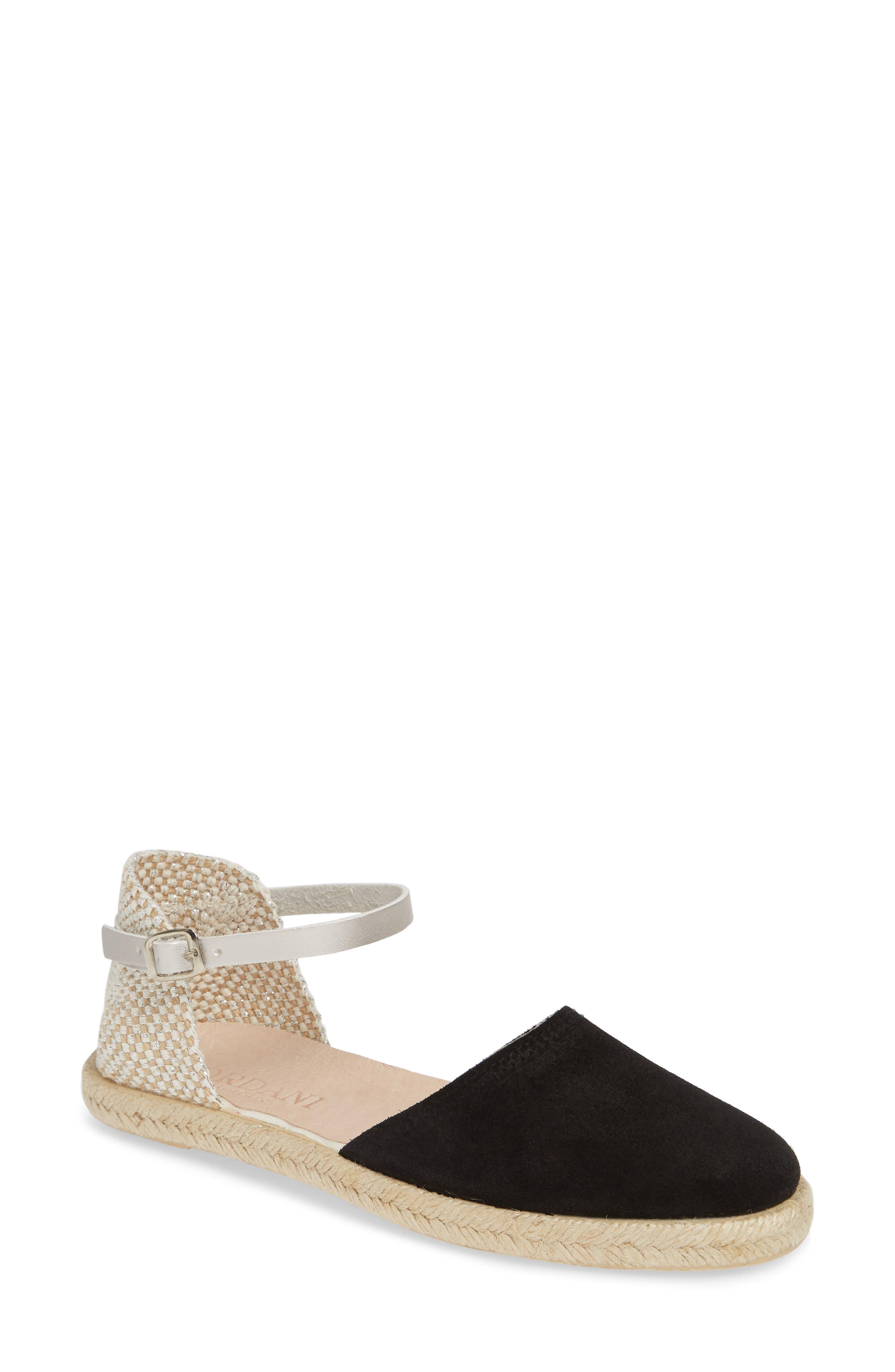 Bertie Espadrille Sandal, Main, color, BLACK SUEDE