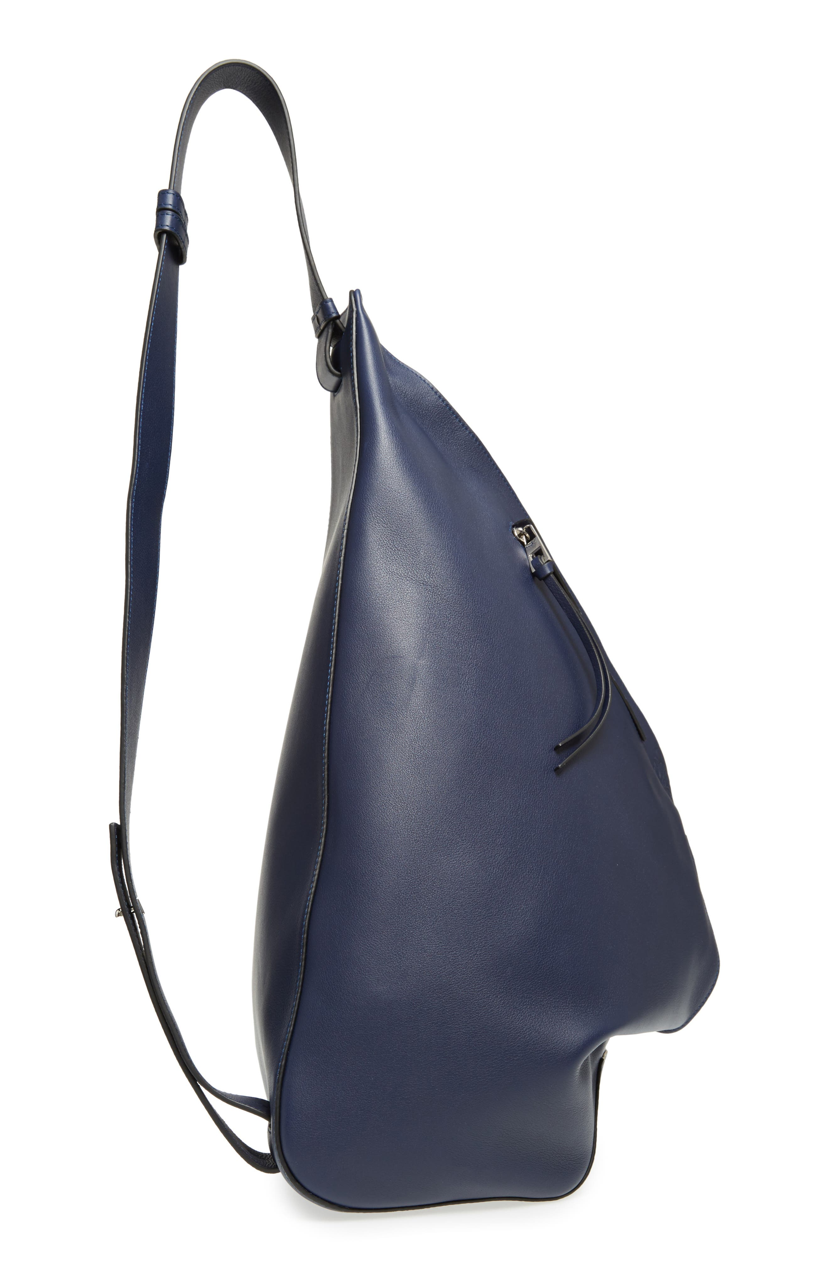 Anton Leather Sling Pack,                             Alternate thumbnail 5, color,                             NAVY BLUE