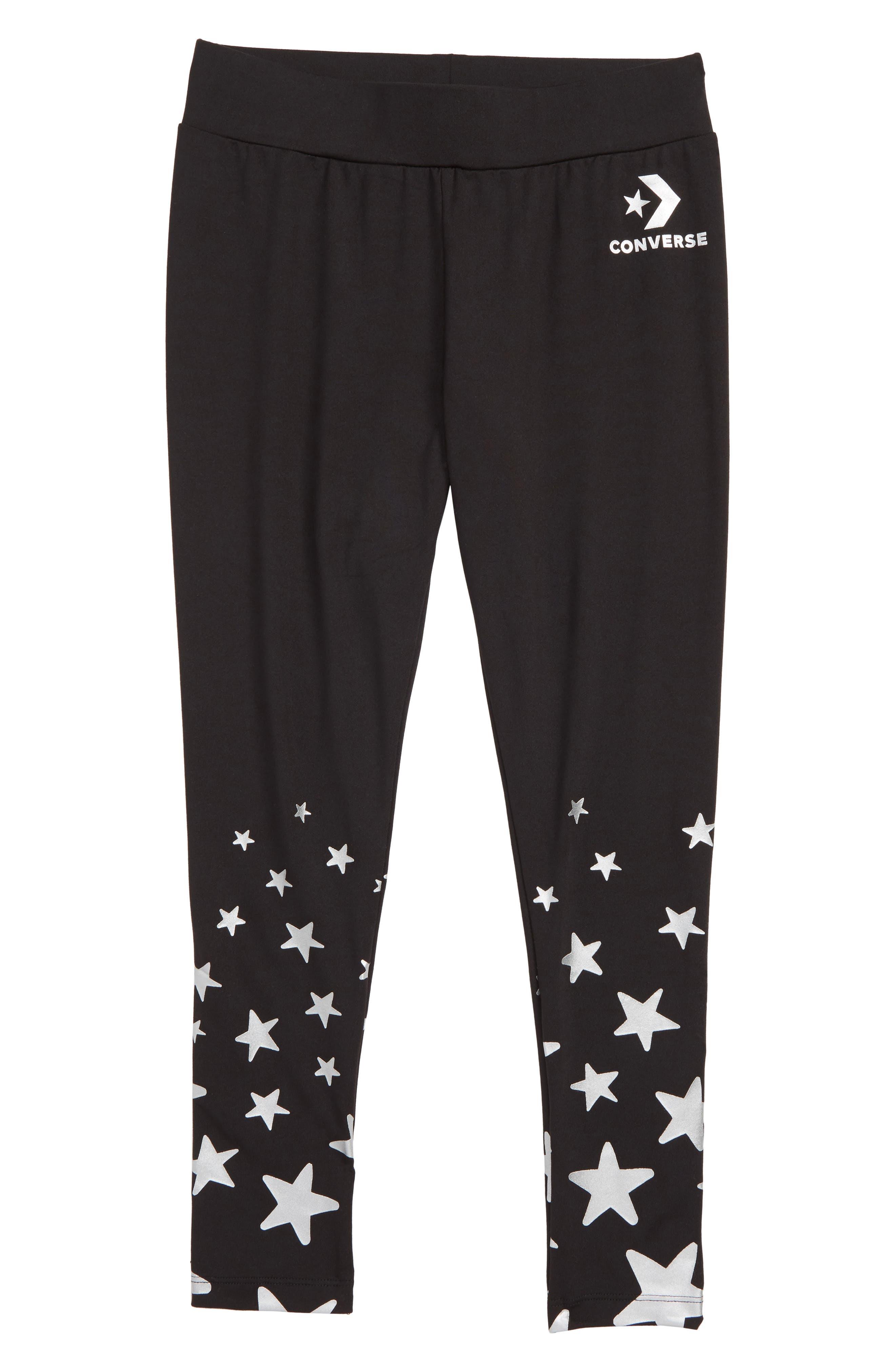 Star Leggings,                             Main thumbnail 1, color,                             BLACK