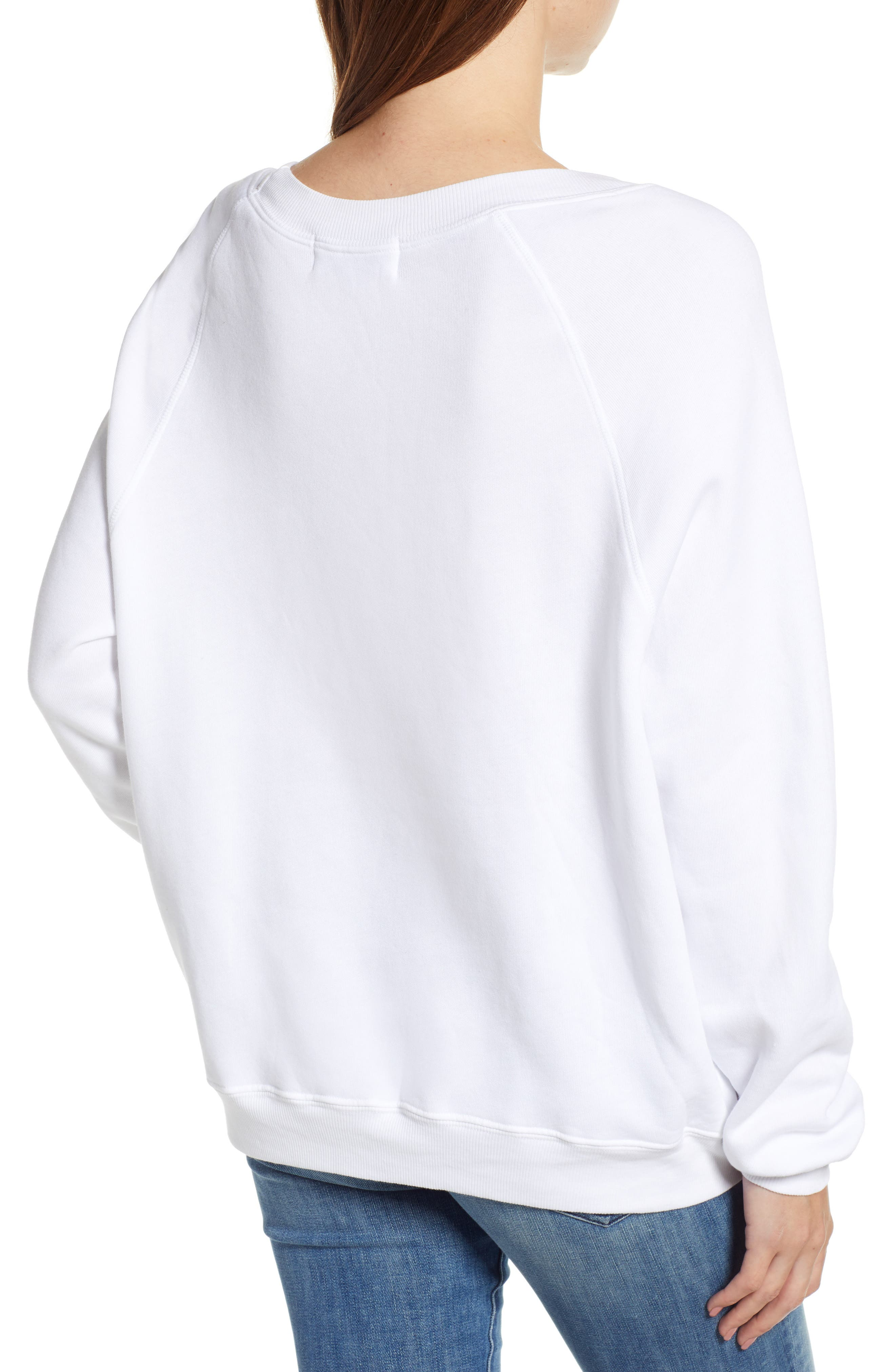 Snowy Tropics Sommers Sweatshirt,                             Alternate thumbnail 2, color,                             CLEAN WHITE