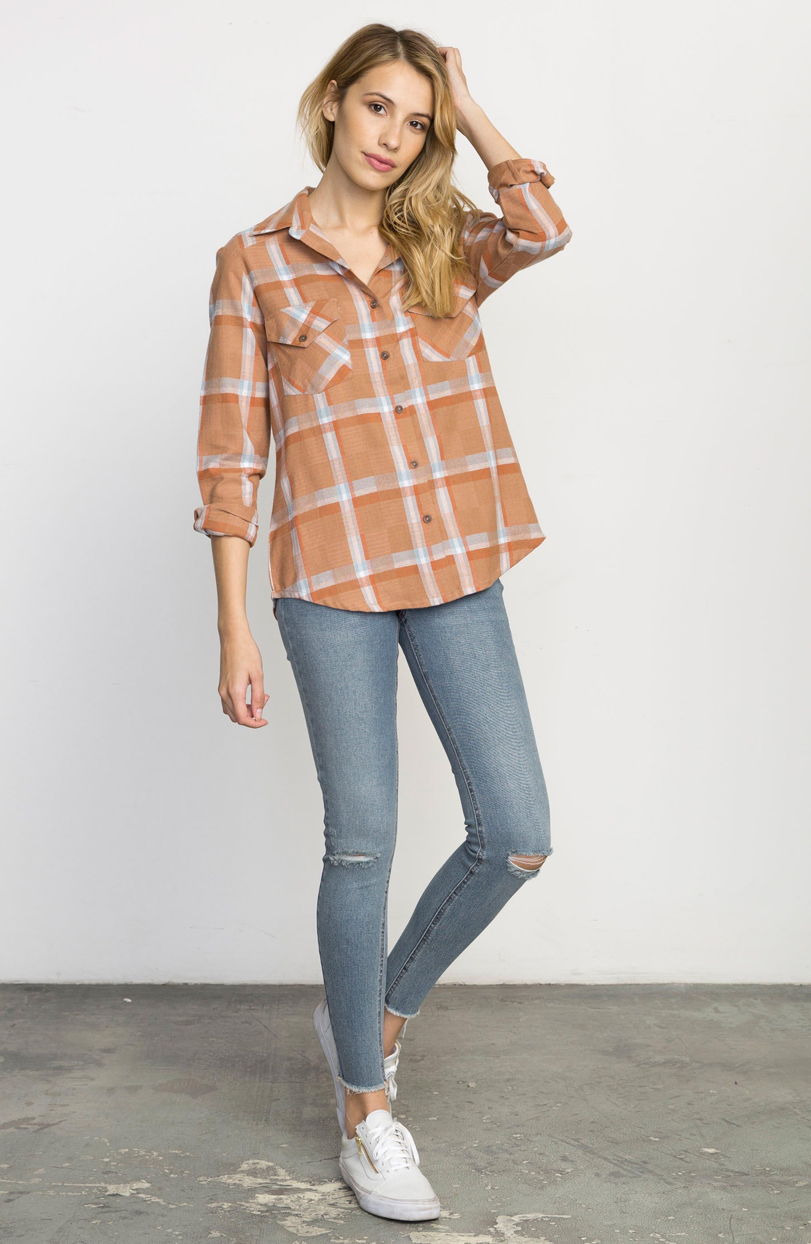 Plaid Flannel Shirt,                             Alternate thumbnail 22, color,
