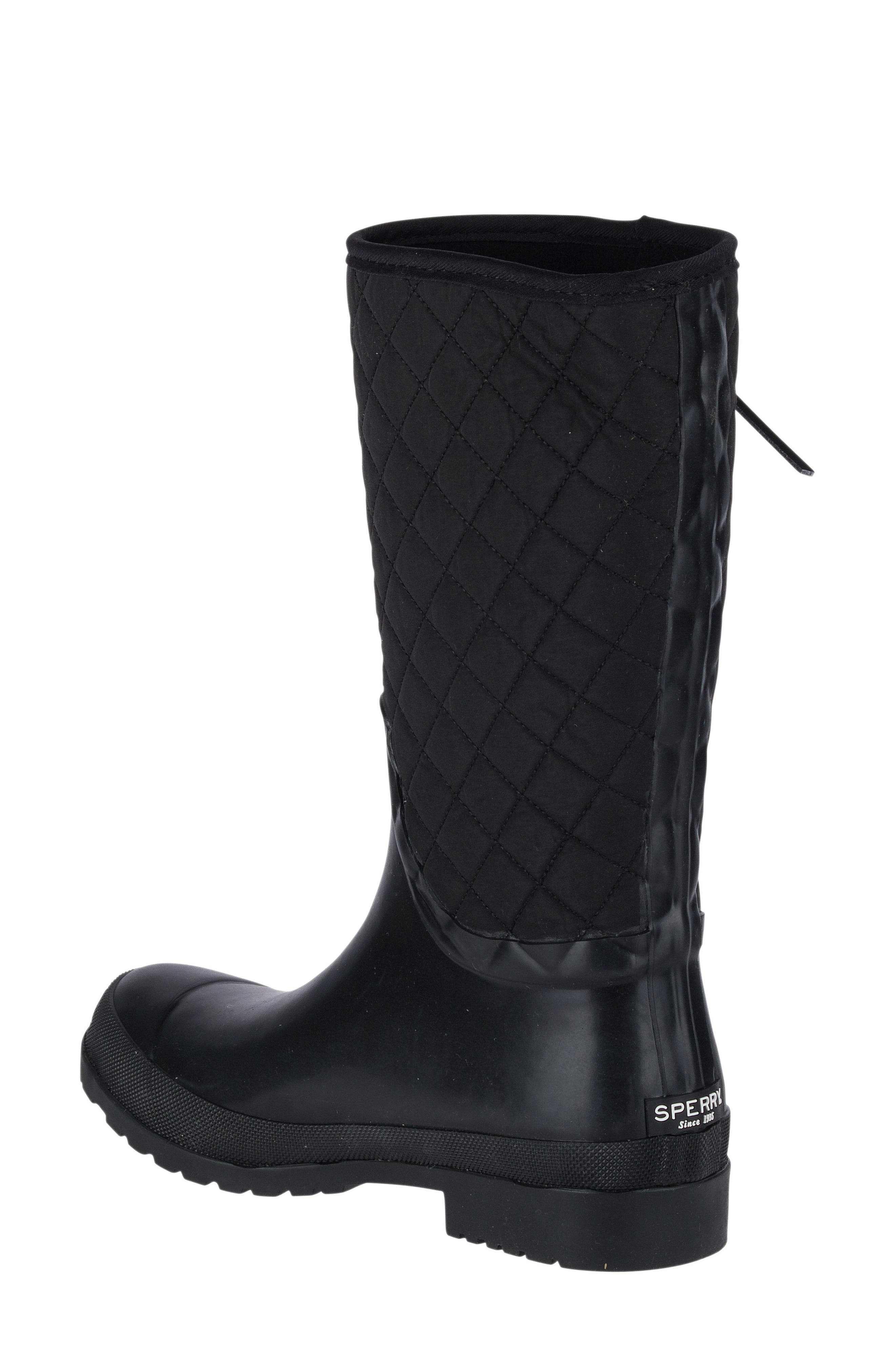 Walker Quilted Rain Boot,                             Alternate thumbnail 2, color,                             001