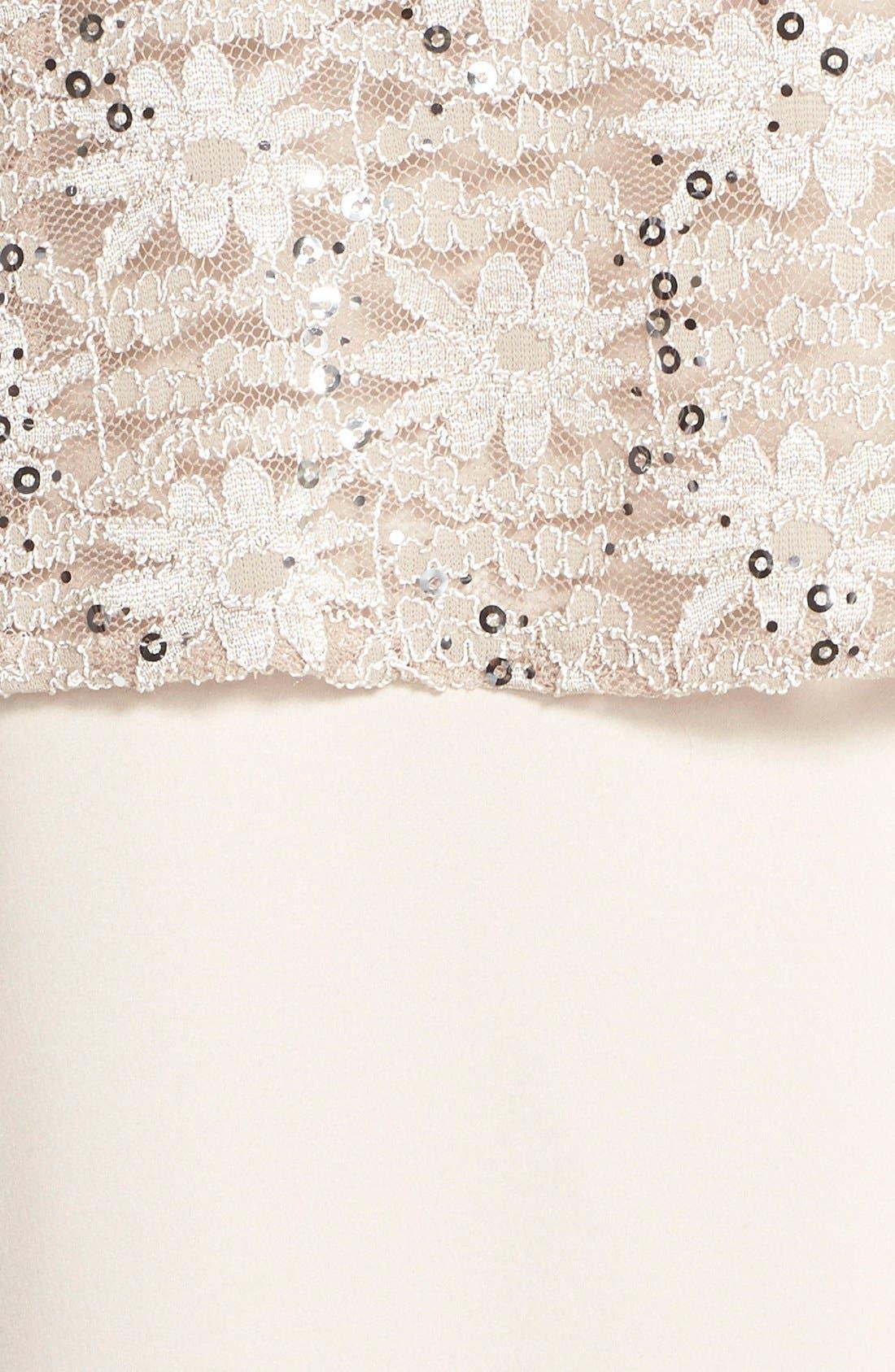 Alex Evening A-Line Gown & Lace Jacket,                             Alternate thumbnail 12, color,