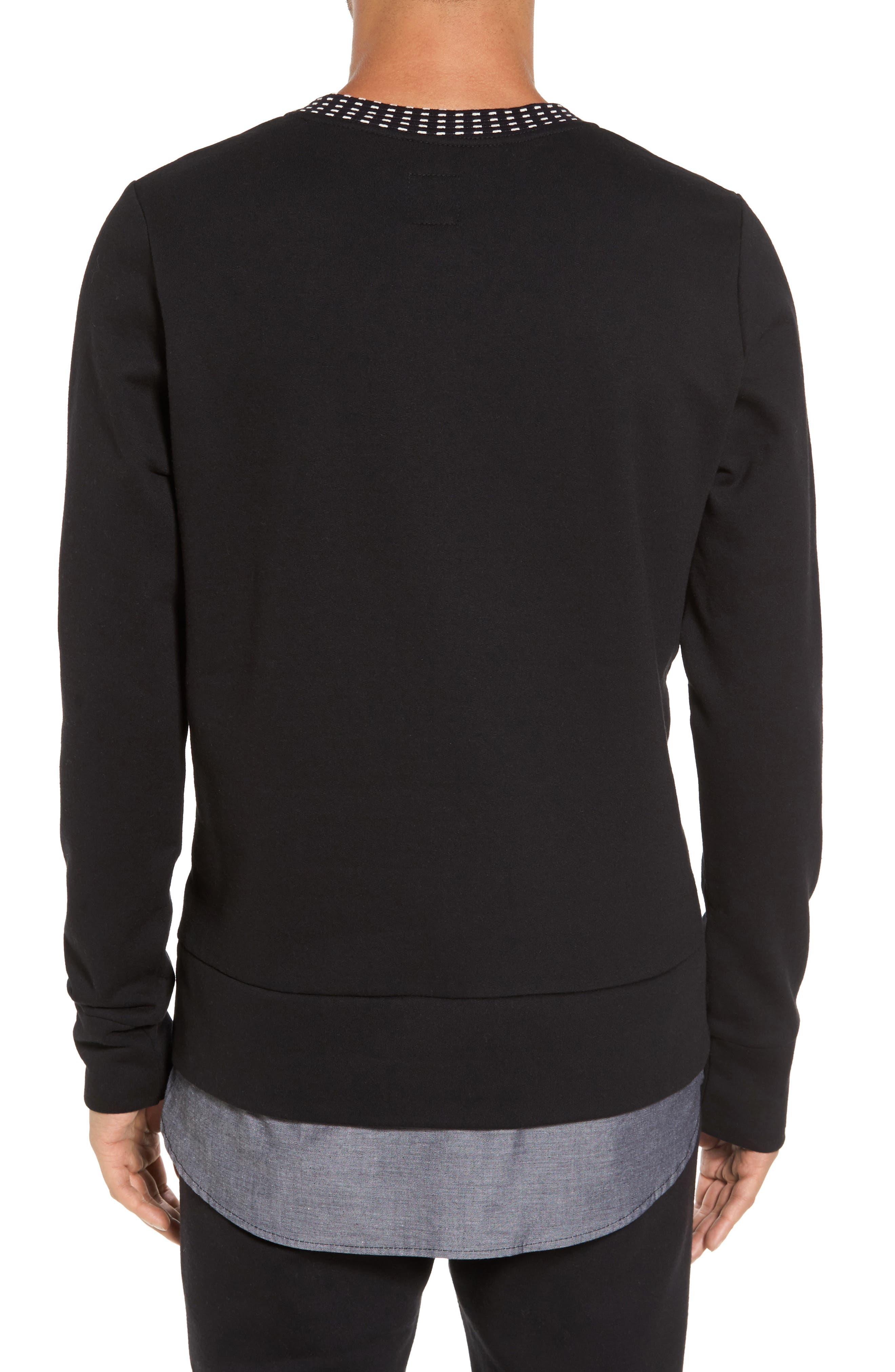 Double Layer Pullover,                             Alternate thumbnail 2, color,                             001