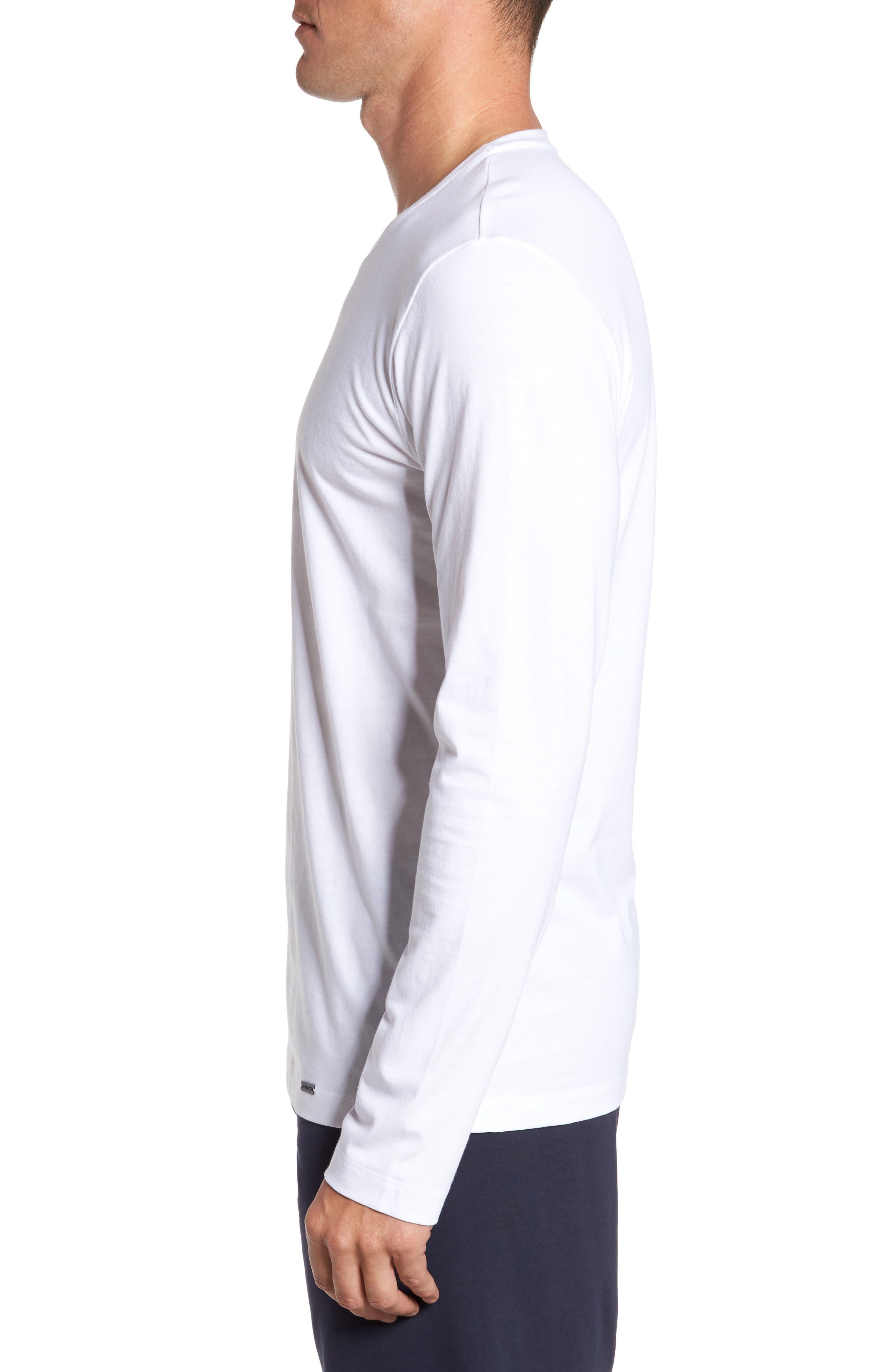 Living Long Sleeve T-Shirt,                             Alternate thumbnail 3, color,                             WHITE