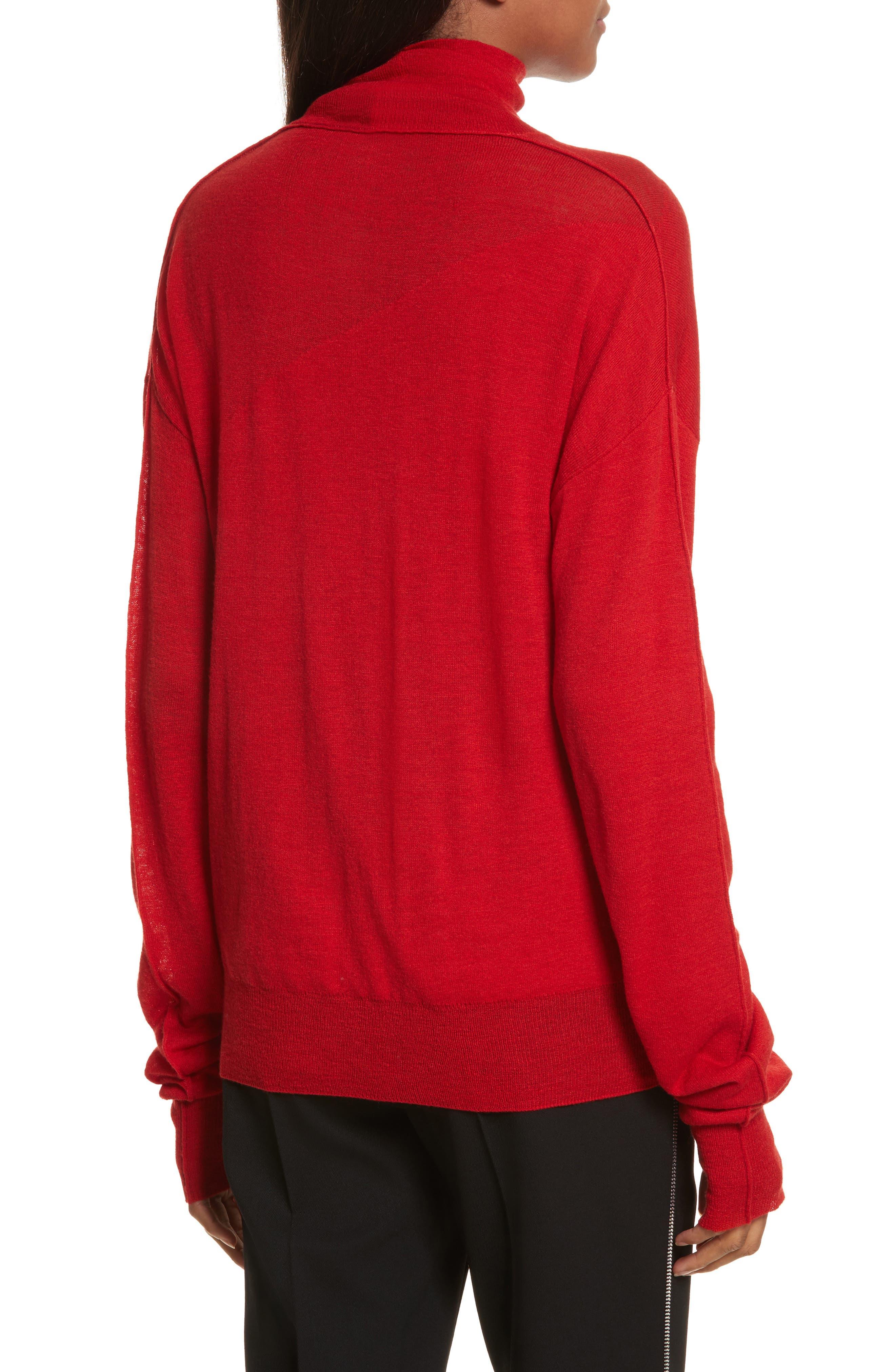 Sheer Panel Wool & Silk Turtleneck Sweater,                             Alternate thumbnail 2, color,                             641