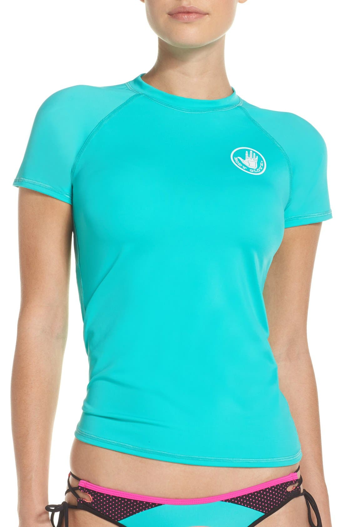 'Smoothies in Motion' Short Sleeve Rashguard,                             Main thumbnail 4, color,