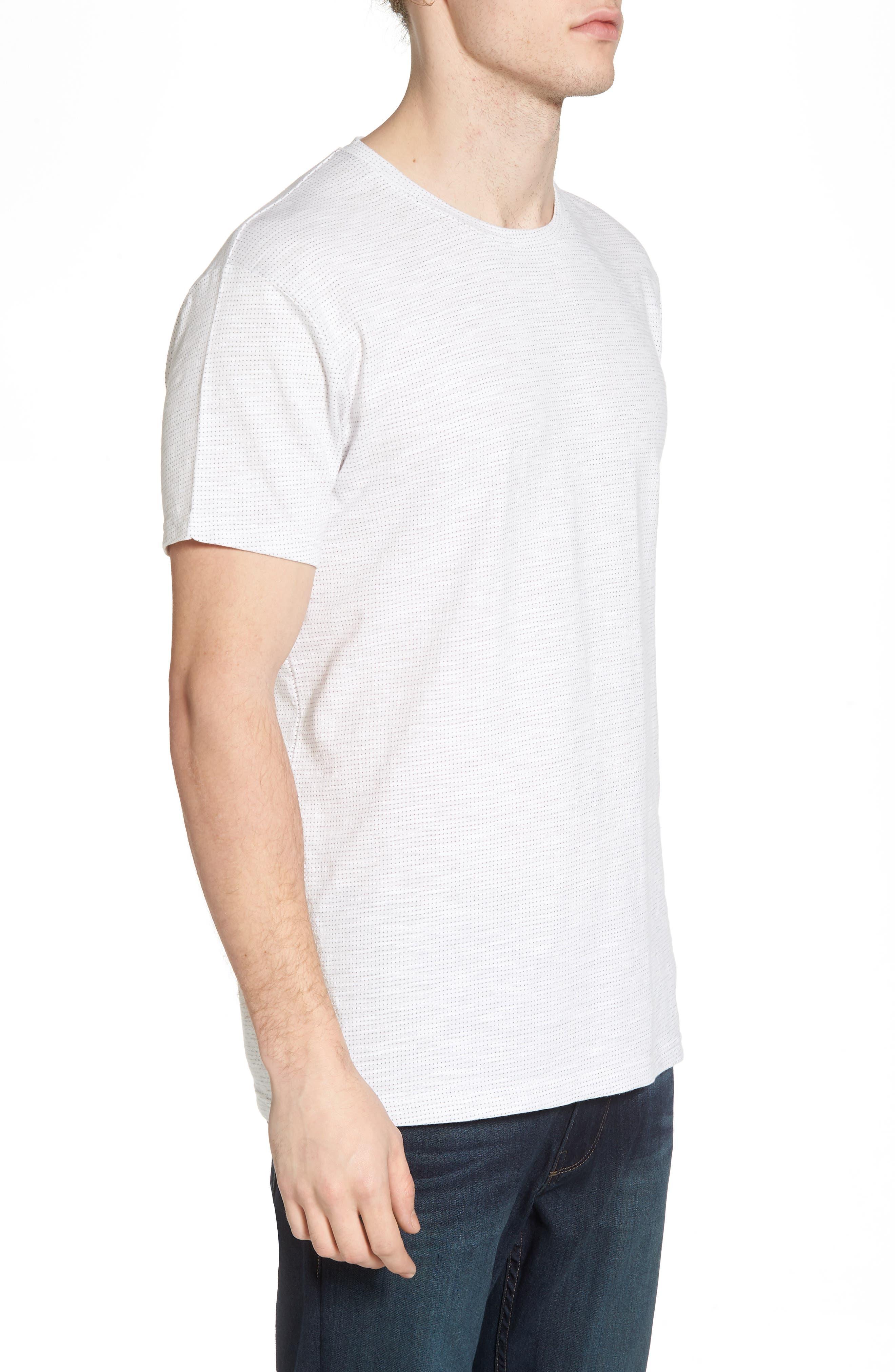 Slub Jacquard T-Shirt,                             Alternate thumbnail 3, color,                             111