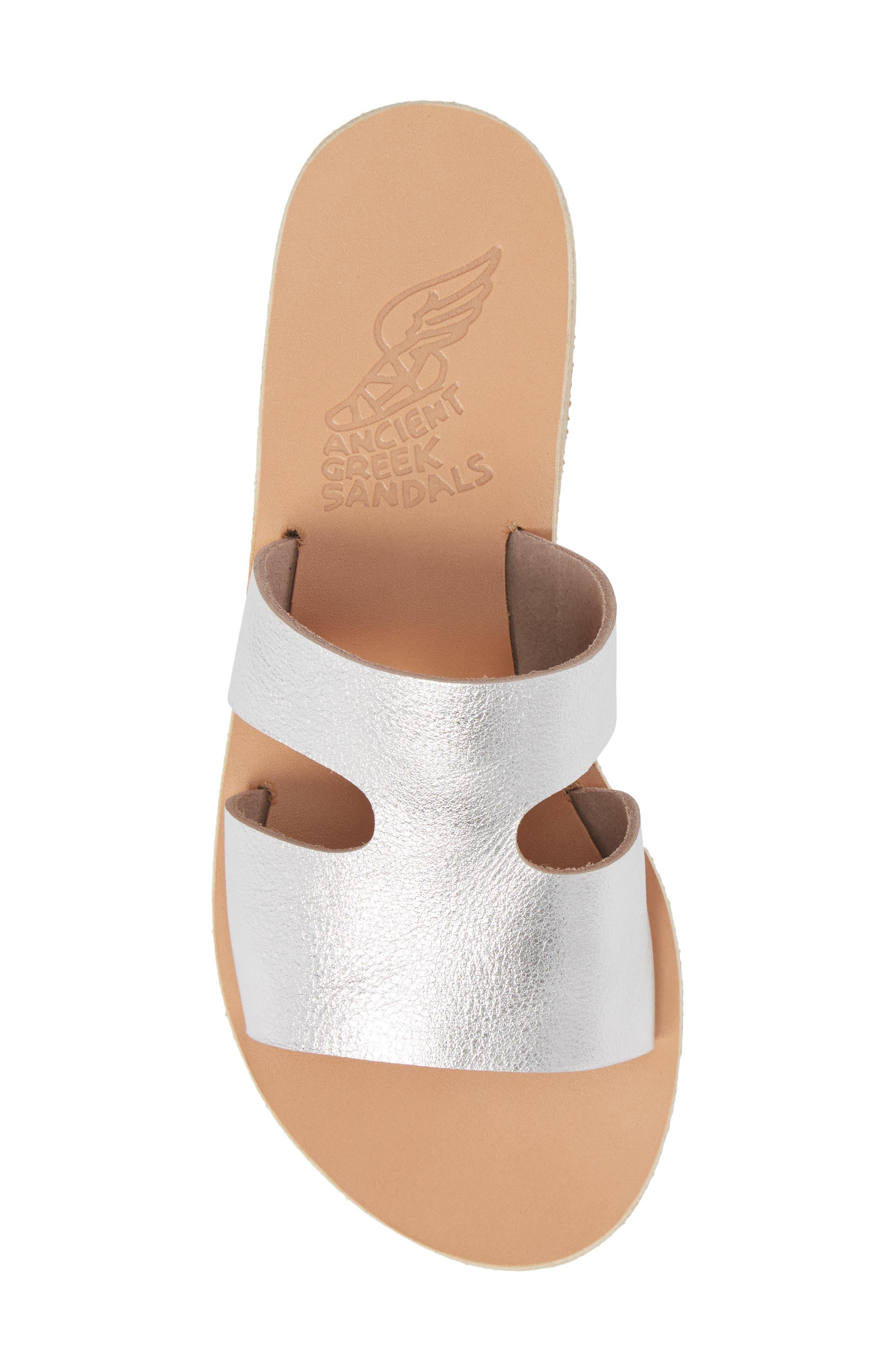 Apteros Slide Sandal,                             Alternate thumbnail 5, color,                             METAL SILVER