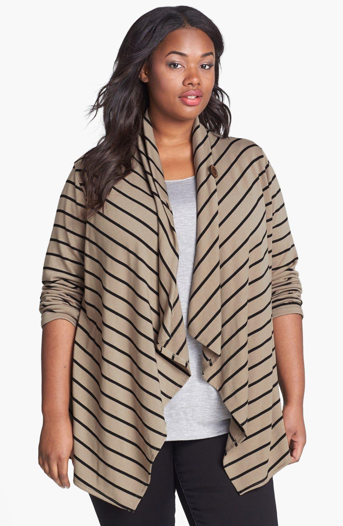 Stripe Fleece Wrap,                             Main thumbnail 2, color,