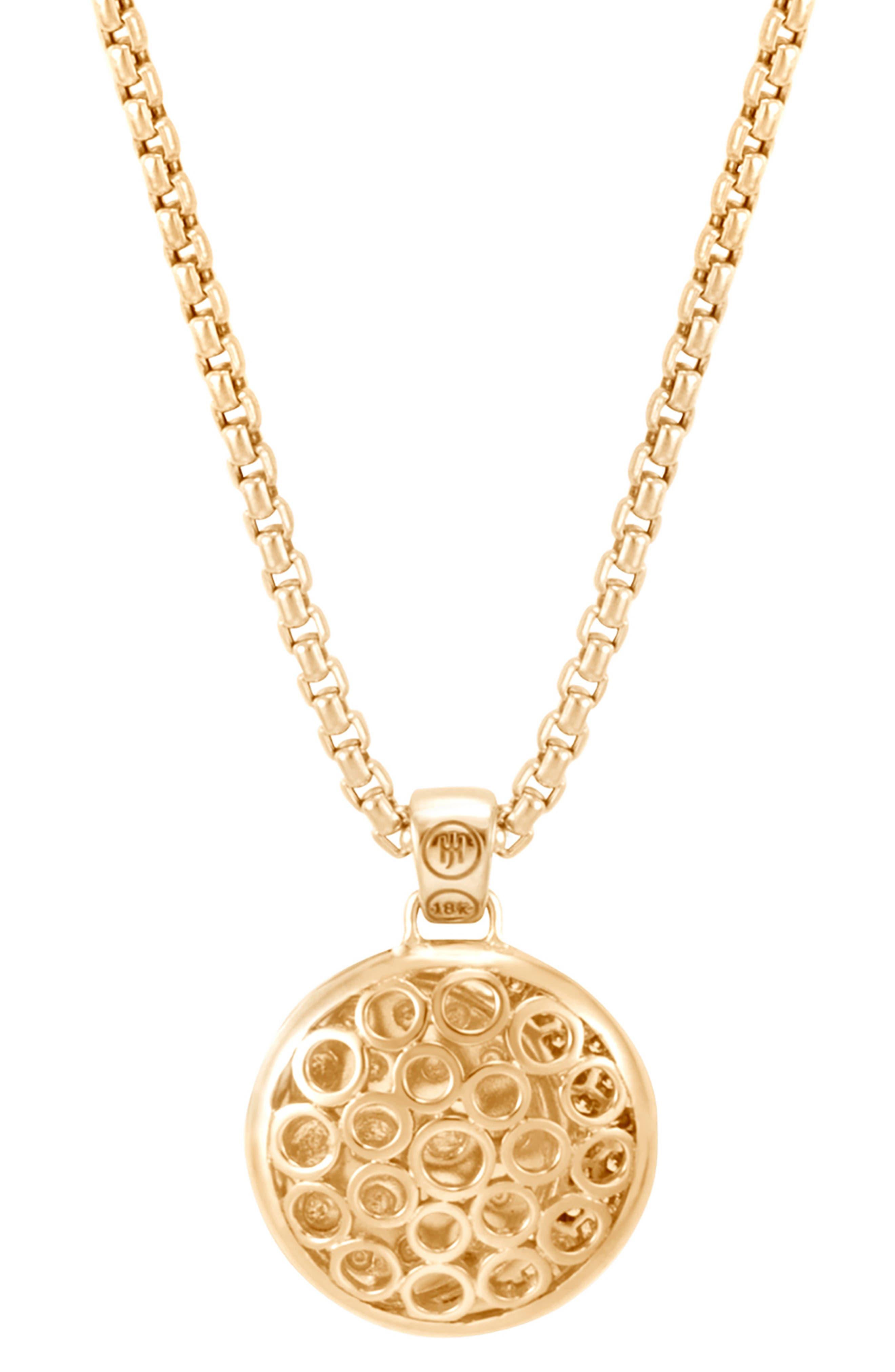 Dot Moon Diamond Pavé Pendant Necklace,                             Alternate thumbnail 3, color,