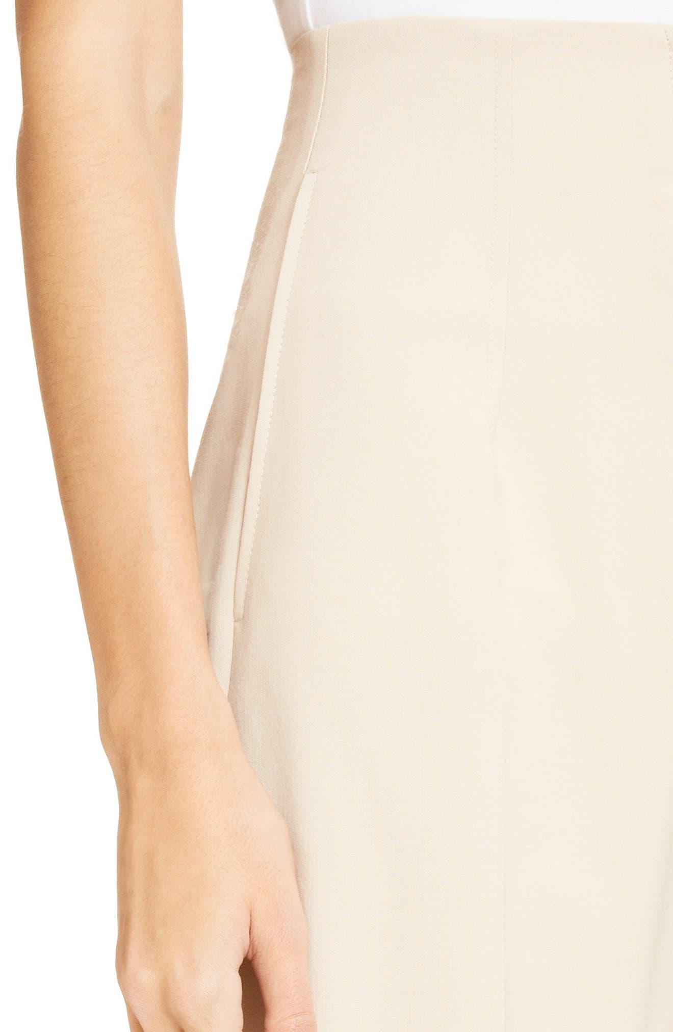 Le Pantalon Droit High Waist Crop Pants,                             Alternate thumbnail 4, color,                             250