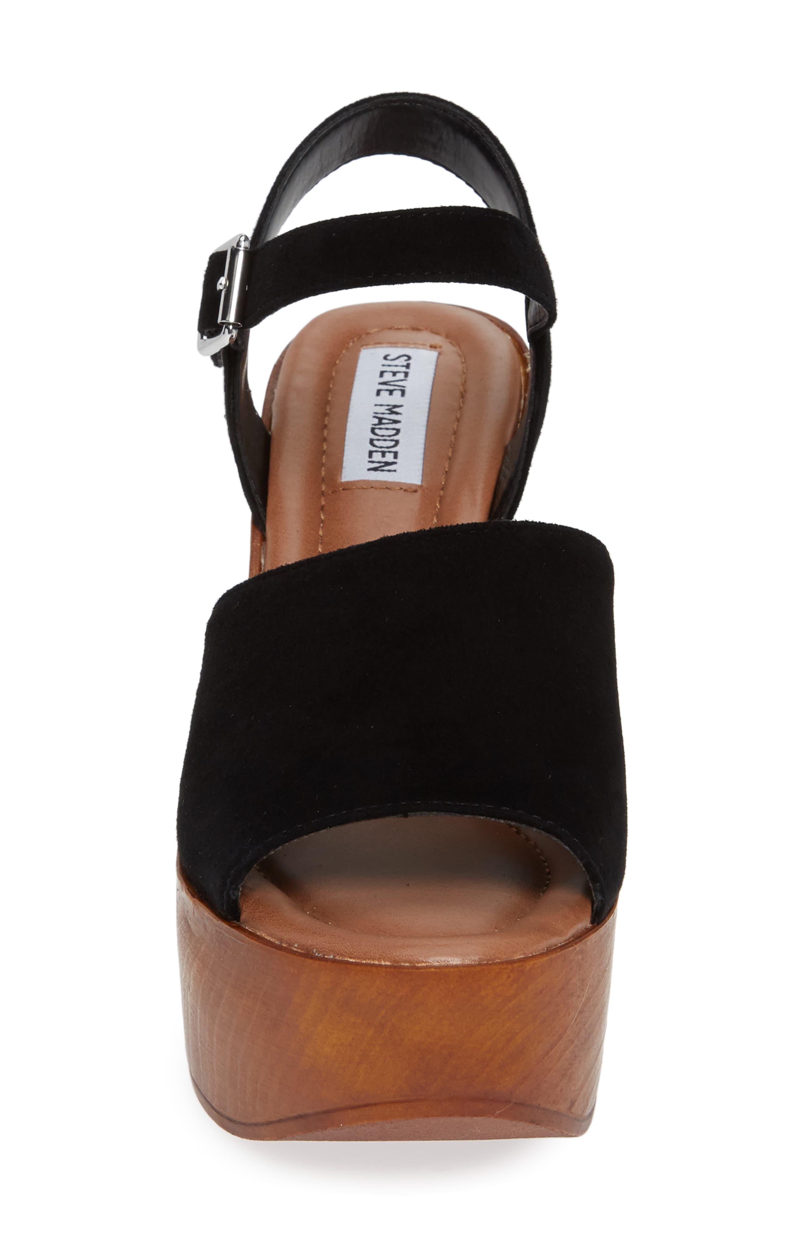 Bellini Wedge Sandal,                             Alternate thumbnail 4, color,                             BLACK SUEDE