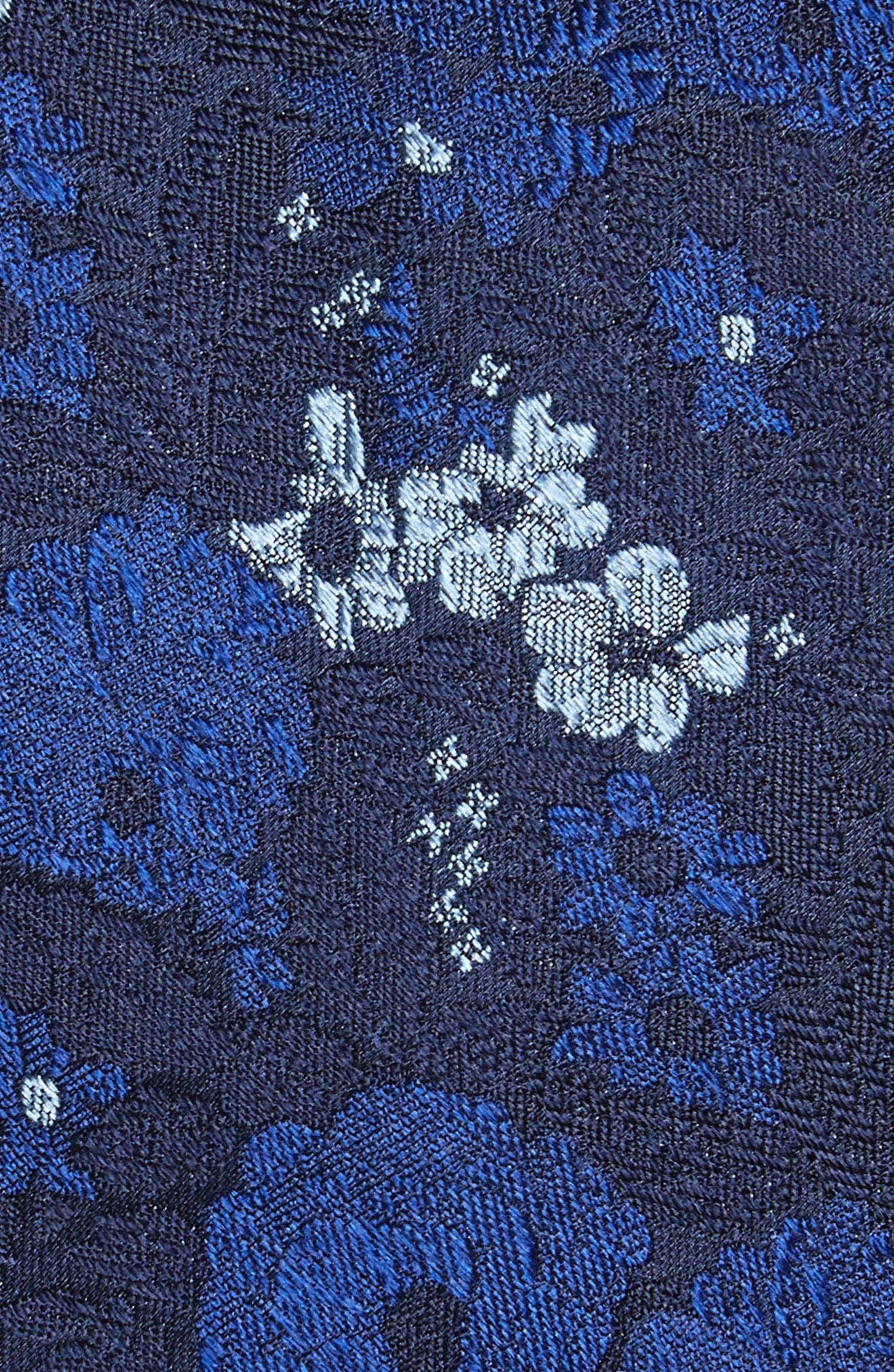 Jerin Floral Silk Tie,                             Alternate thumbnail 2, color,                             DARK NAVY