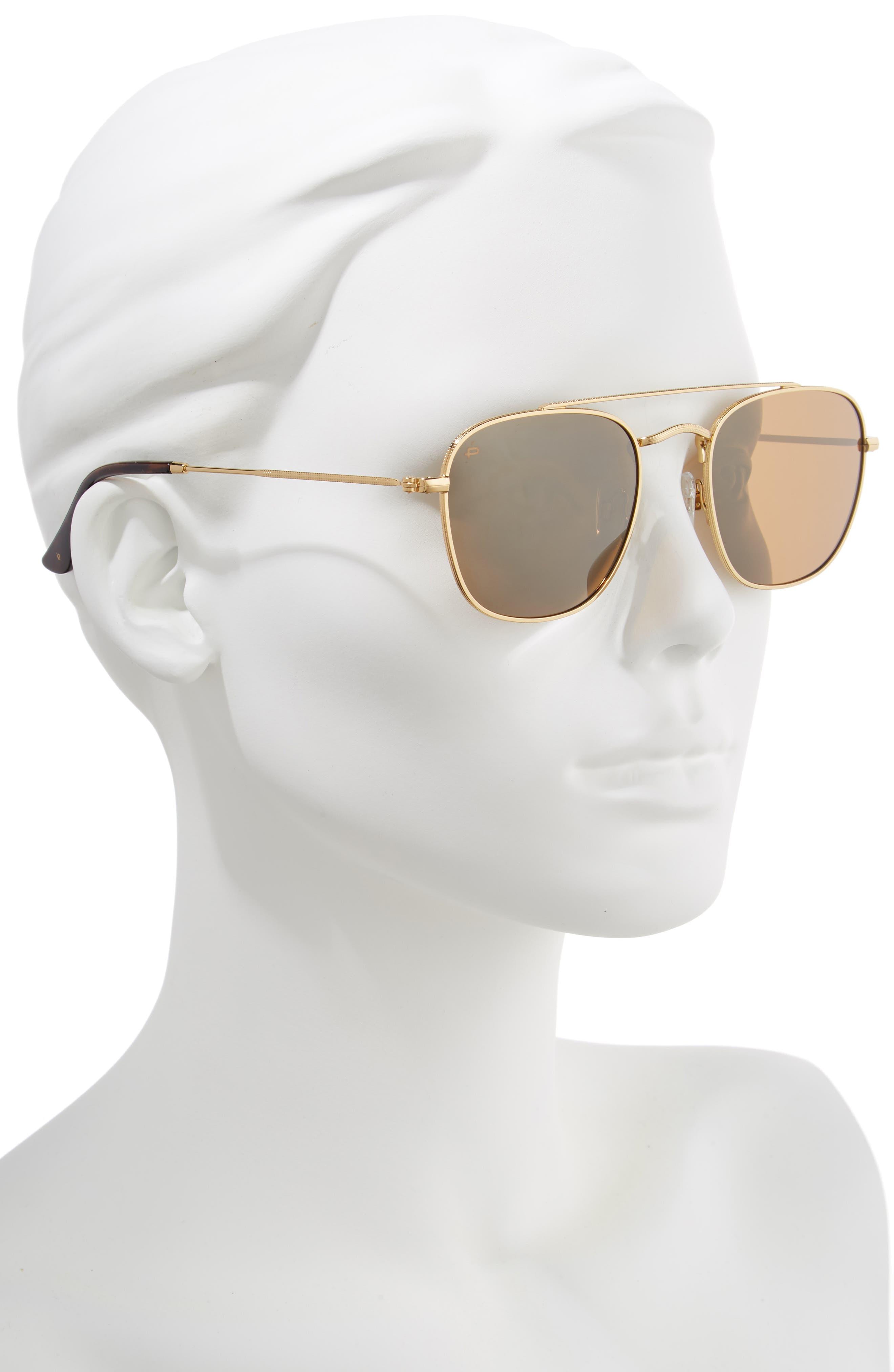 Privé Revaux The Yorker 54mm Sunglasses,                             Alternate thumbnail 2, color,                             HEAVY GOLD
