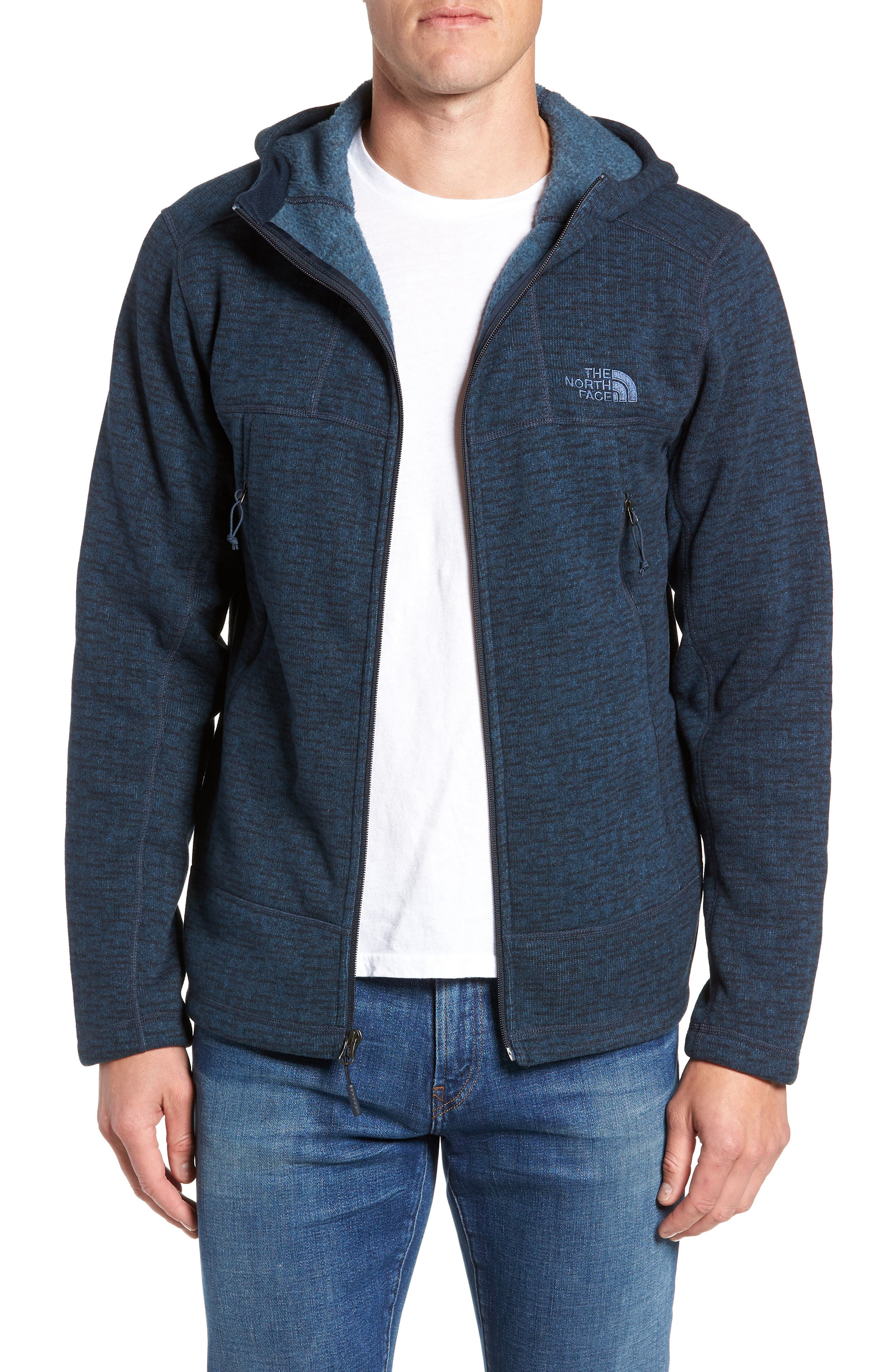 Gordon Lyons Alpine Sweater Fleece Hoodie,                             Main thumbnail 1, color,                             URBAN NAVY