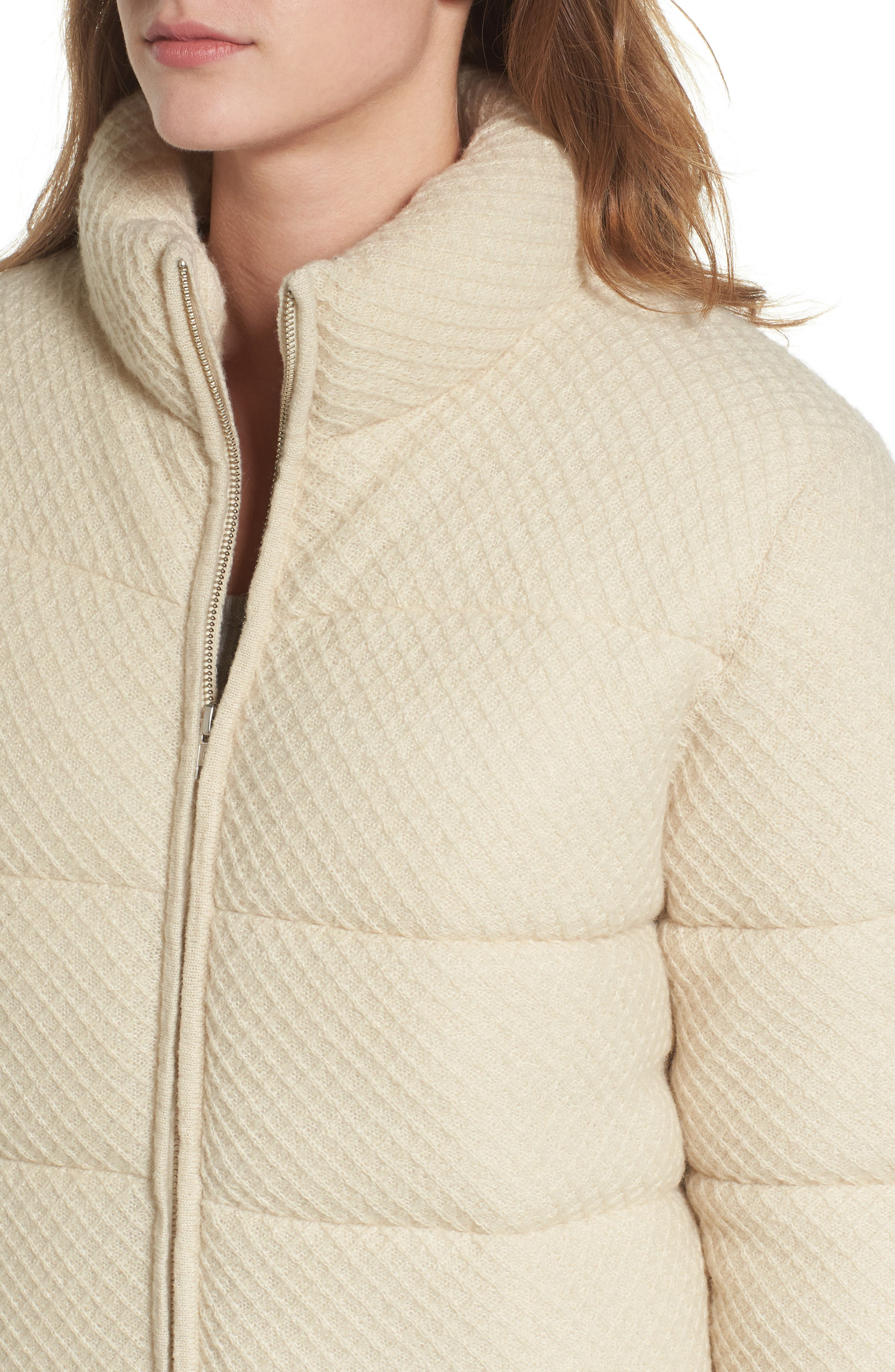 Knit Puffer Jacket,                             Alternate thumbnail 4, color,                             900