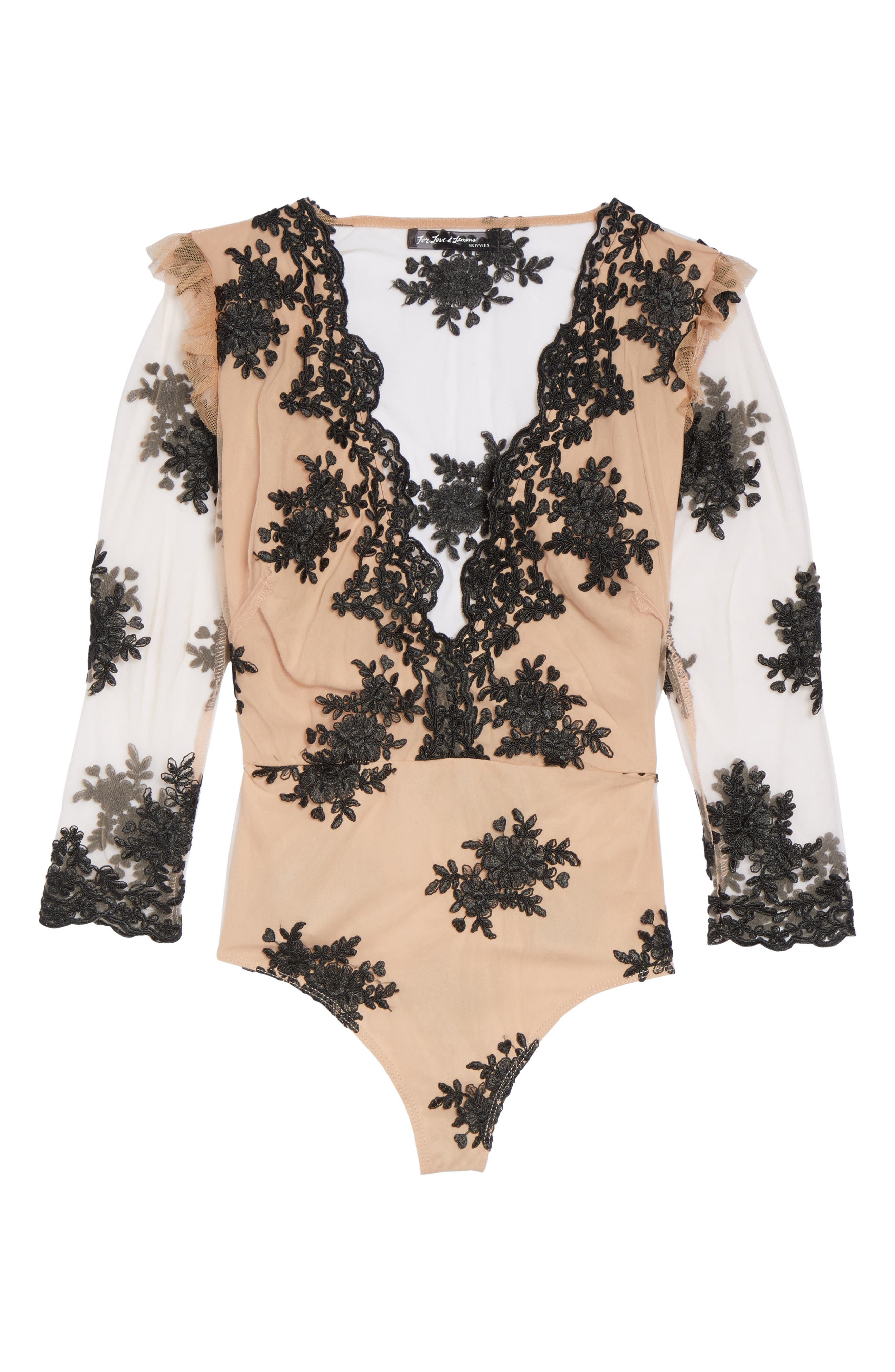 Amber Thong Bodysuit,                             Alternate thumbnail 6, color,                             001