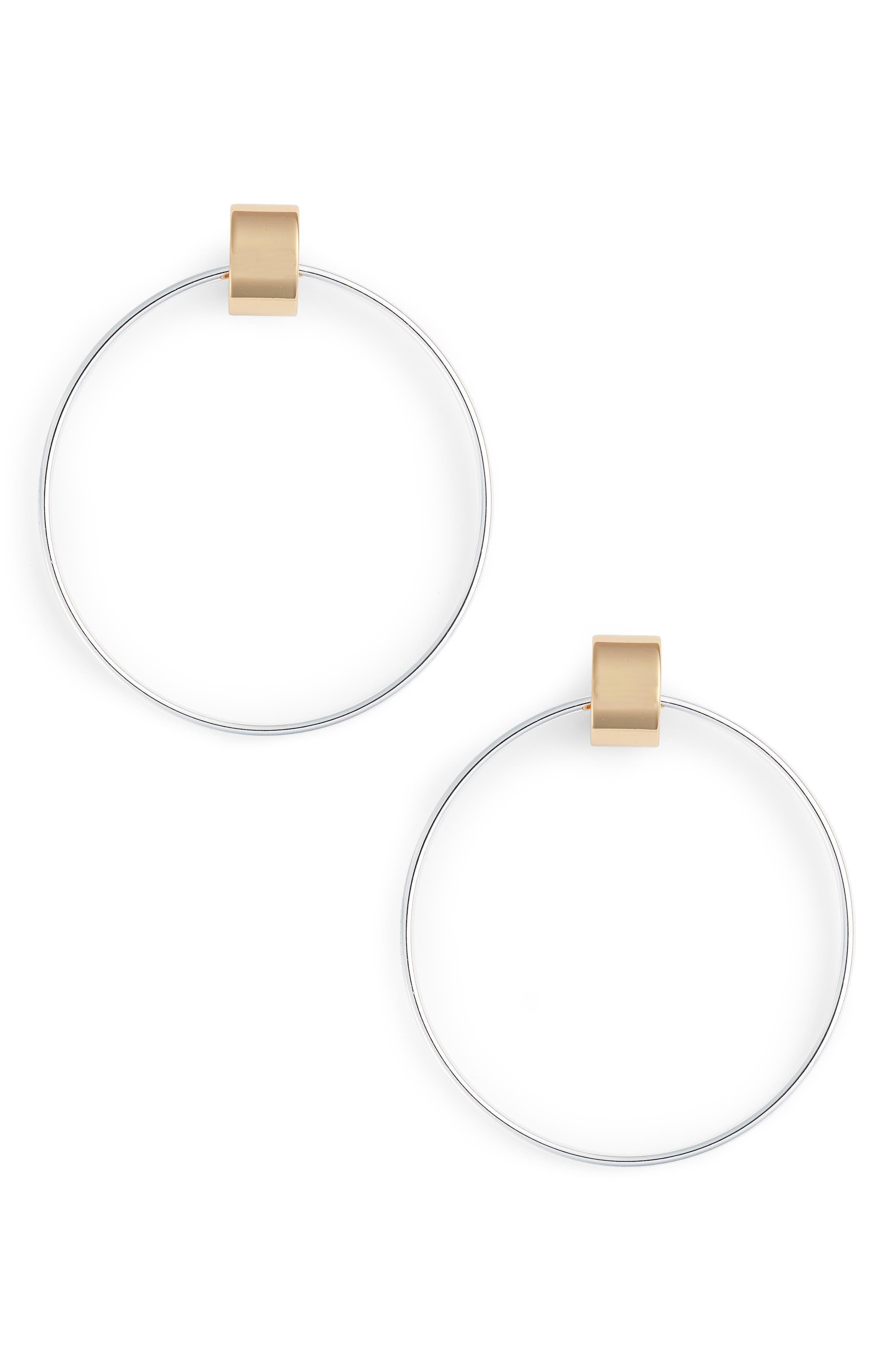Faye Door Knocker Earrings in Two-Tone