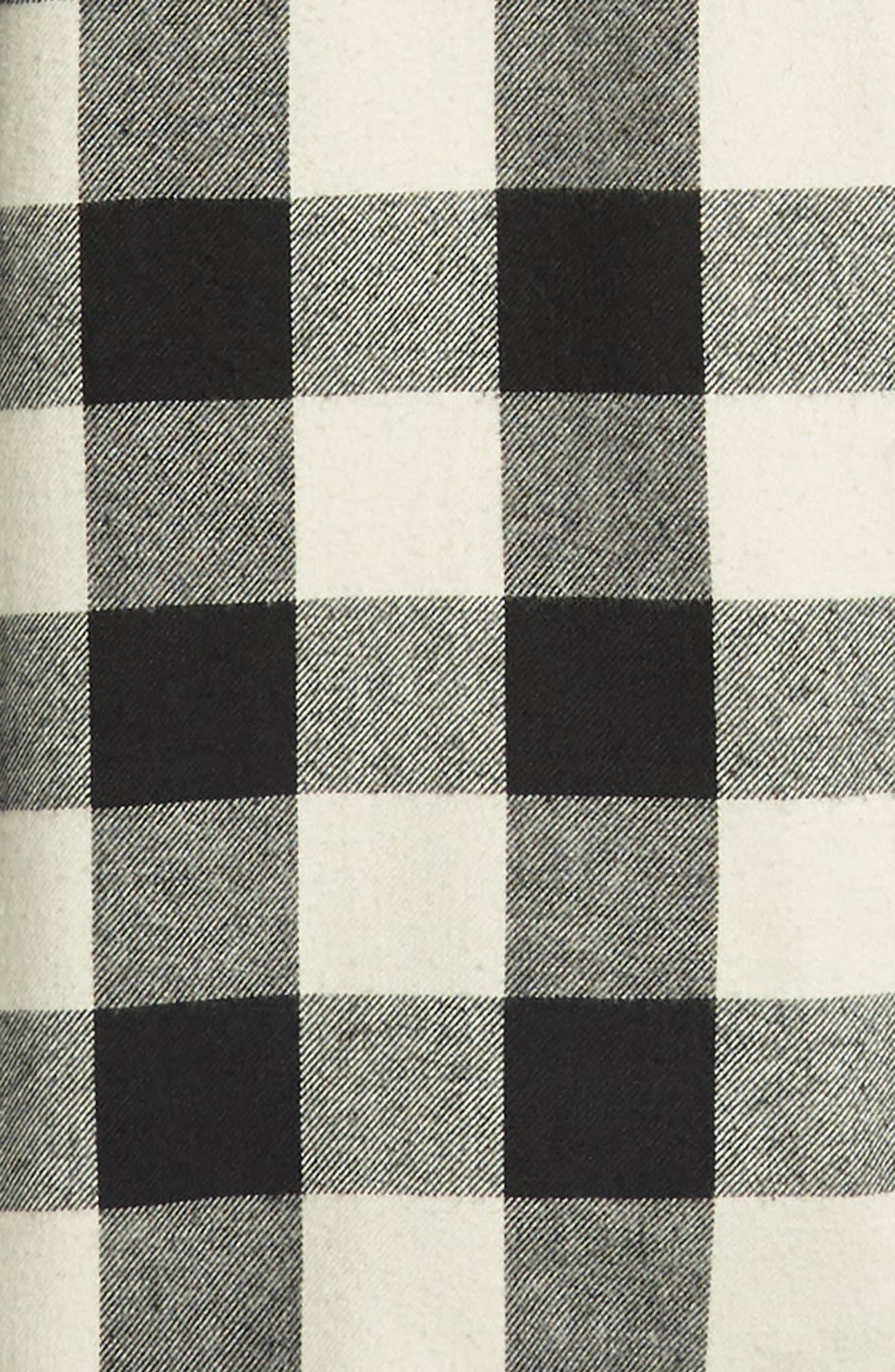 Kahama Regular Fit Flannel Sport Shirt,                             Alternate thumbnail 6, color,                             BLACK WHITECAP GREY