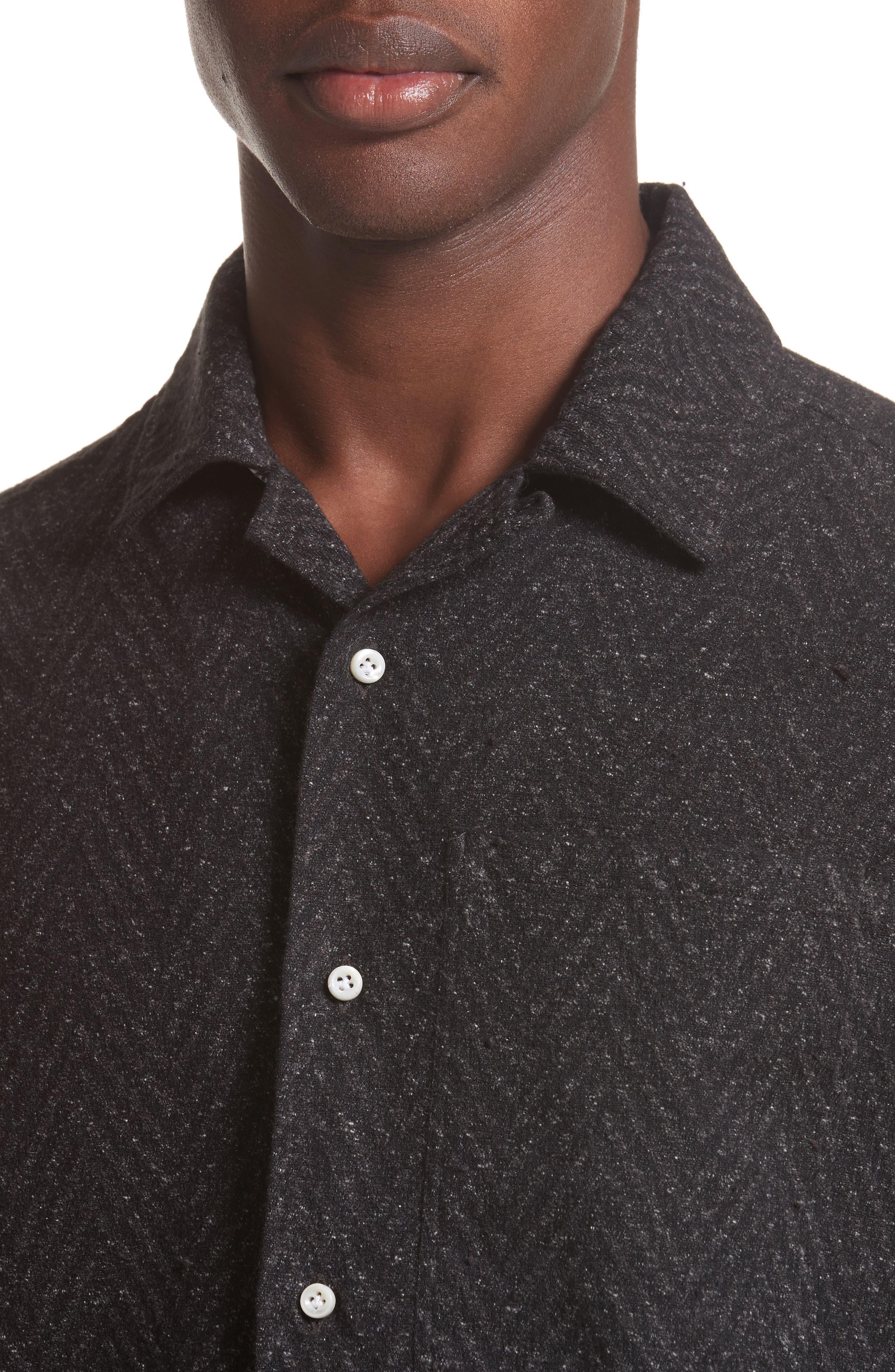 Napoli Herringbone Texture Shirt,                             Alternate thumbnail 4, color,                             062