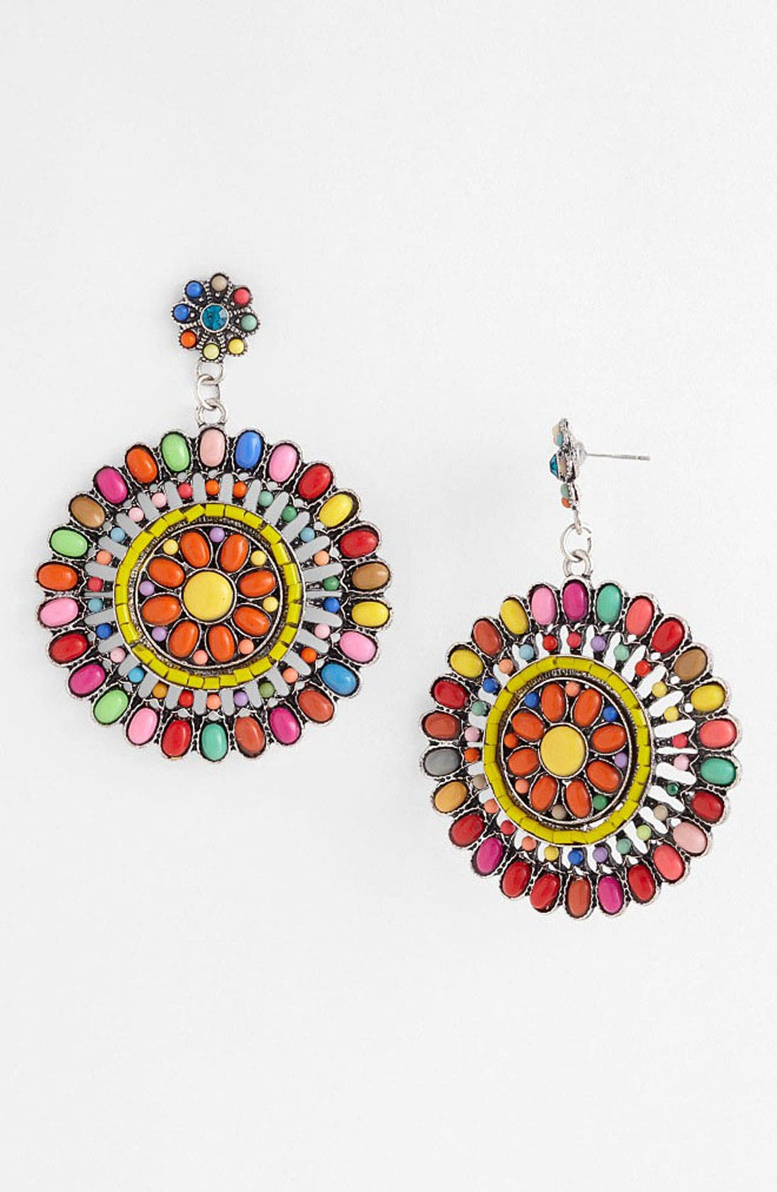 GUINEVERE,                             'Fiesta' Earrings,                             Main thumbnail 1, color,                             700