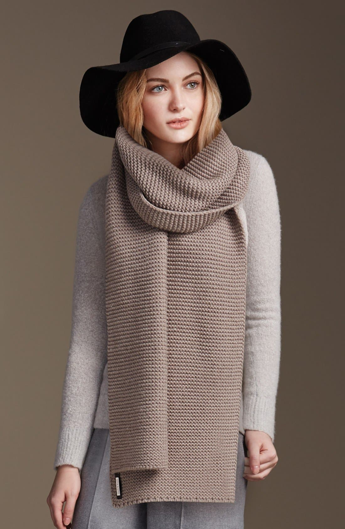 Extra Long Knit Scarf,                             Alternate thumbnail 8, color,