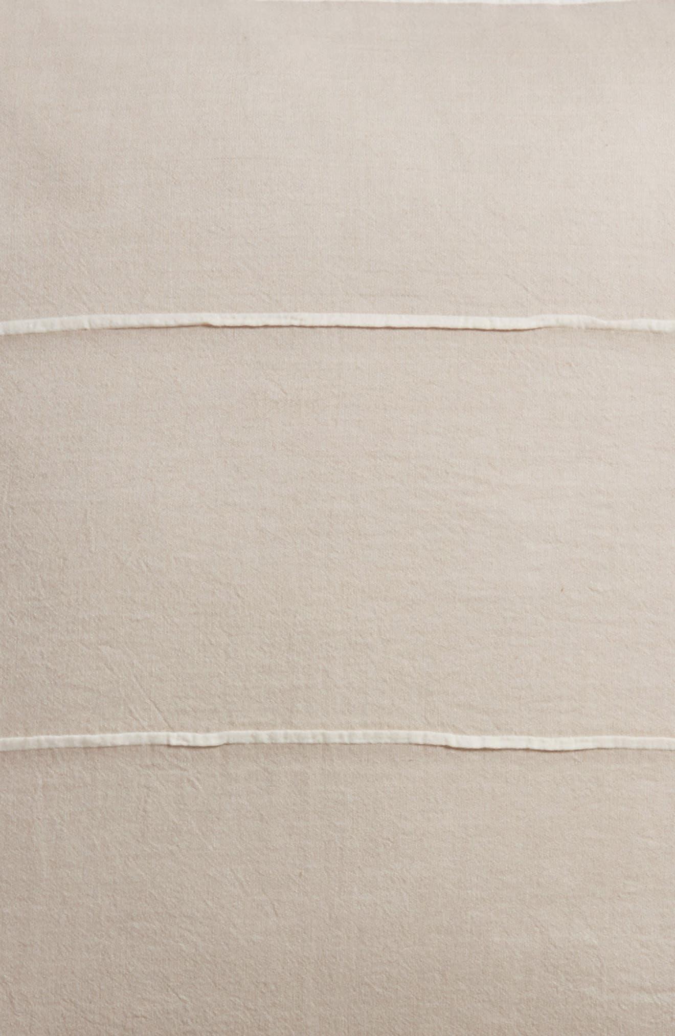 Textured Stripe Euro Sham,                             Alternate thumbnail 3, color,                             GREY OWL