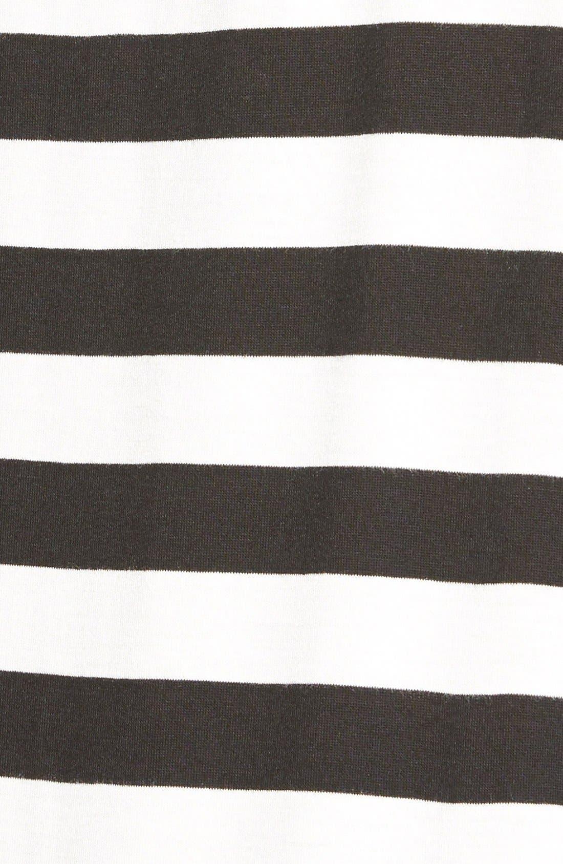 Stripe Asymmetrical Tee,                             Alternate thumbnail 3, color,                             002