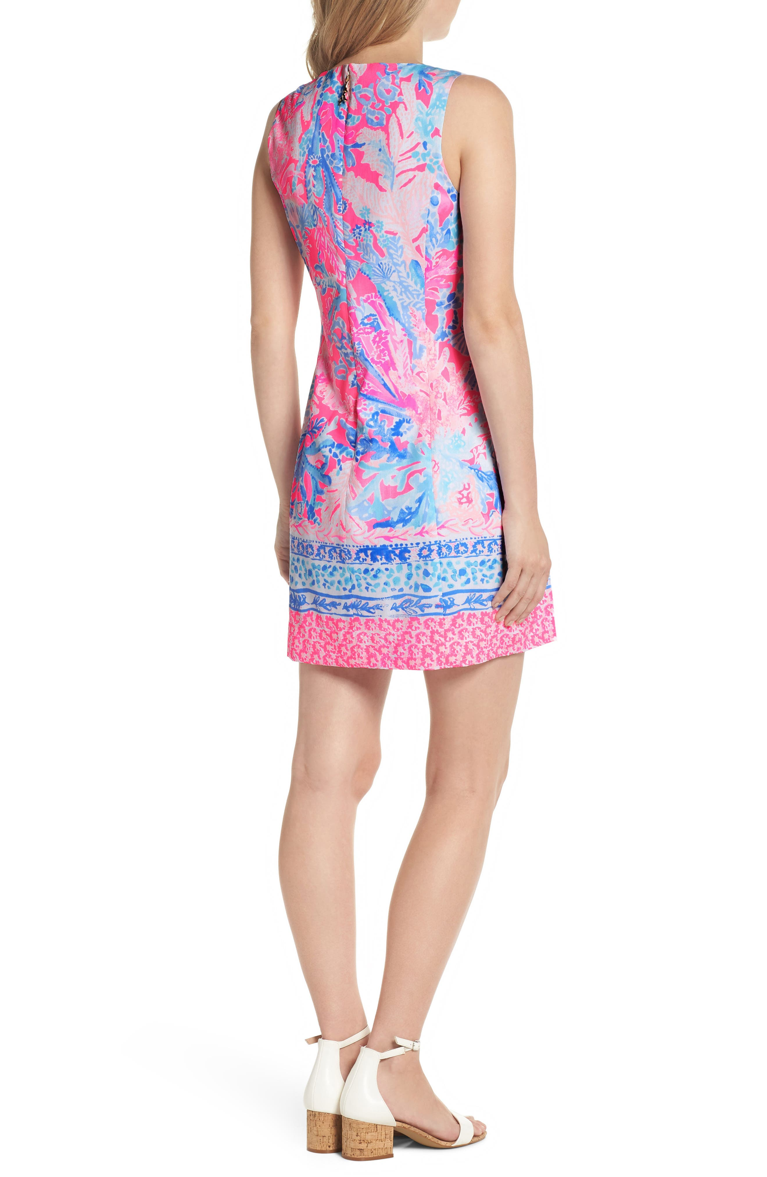 Mila Sheath Dress,                             Alternate thumbnail 2, color,                             LIGHT PASCHA PINK AQUADESIAC