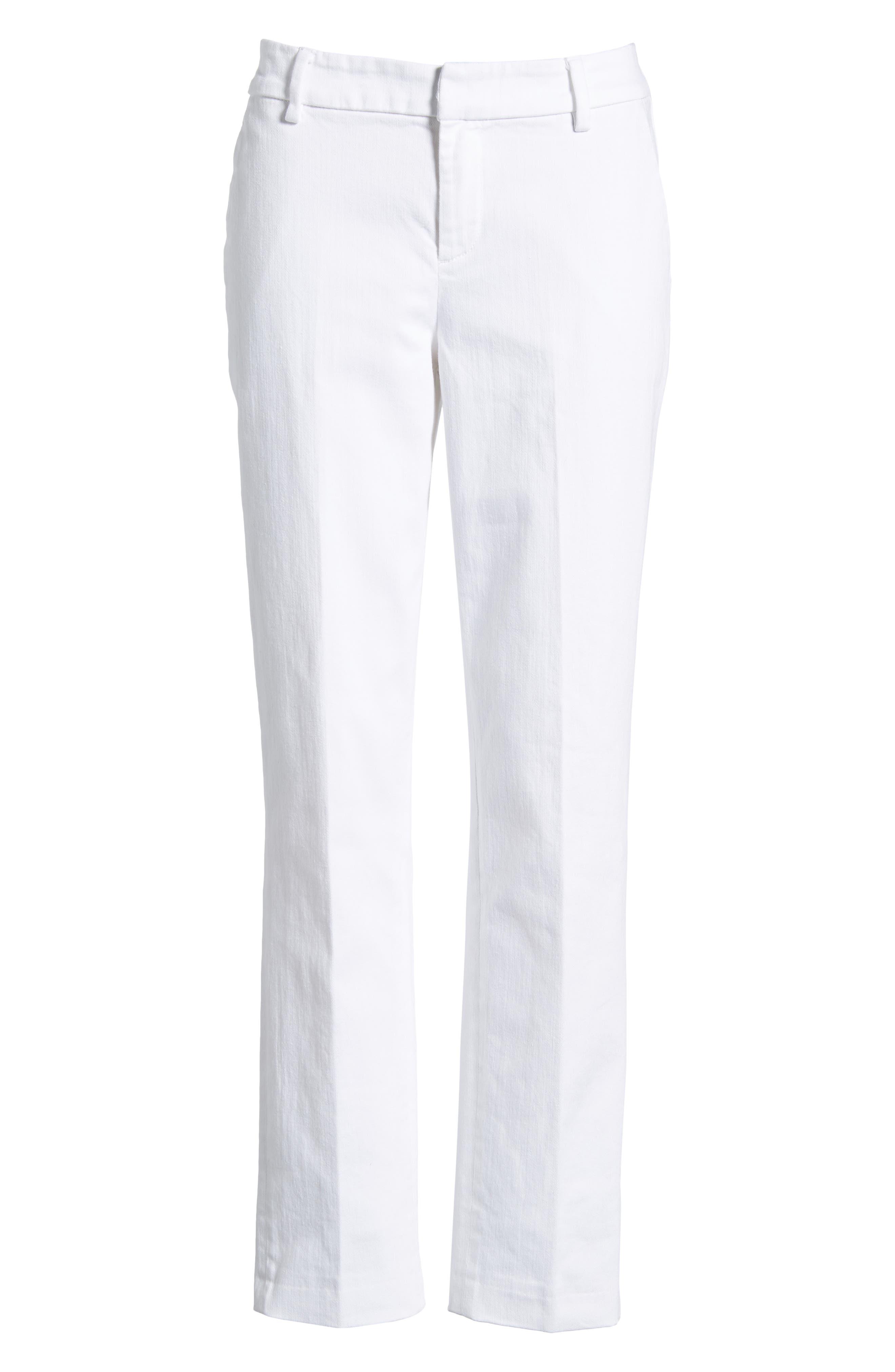 Kelsey Trousers,                             Alternate thumbnail 6, color,                             BRIGHT WHITE