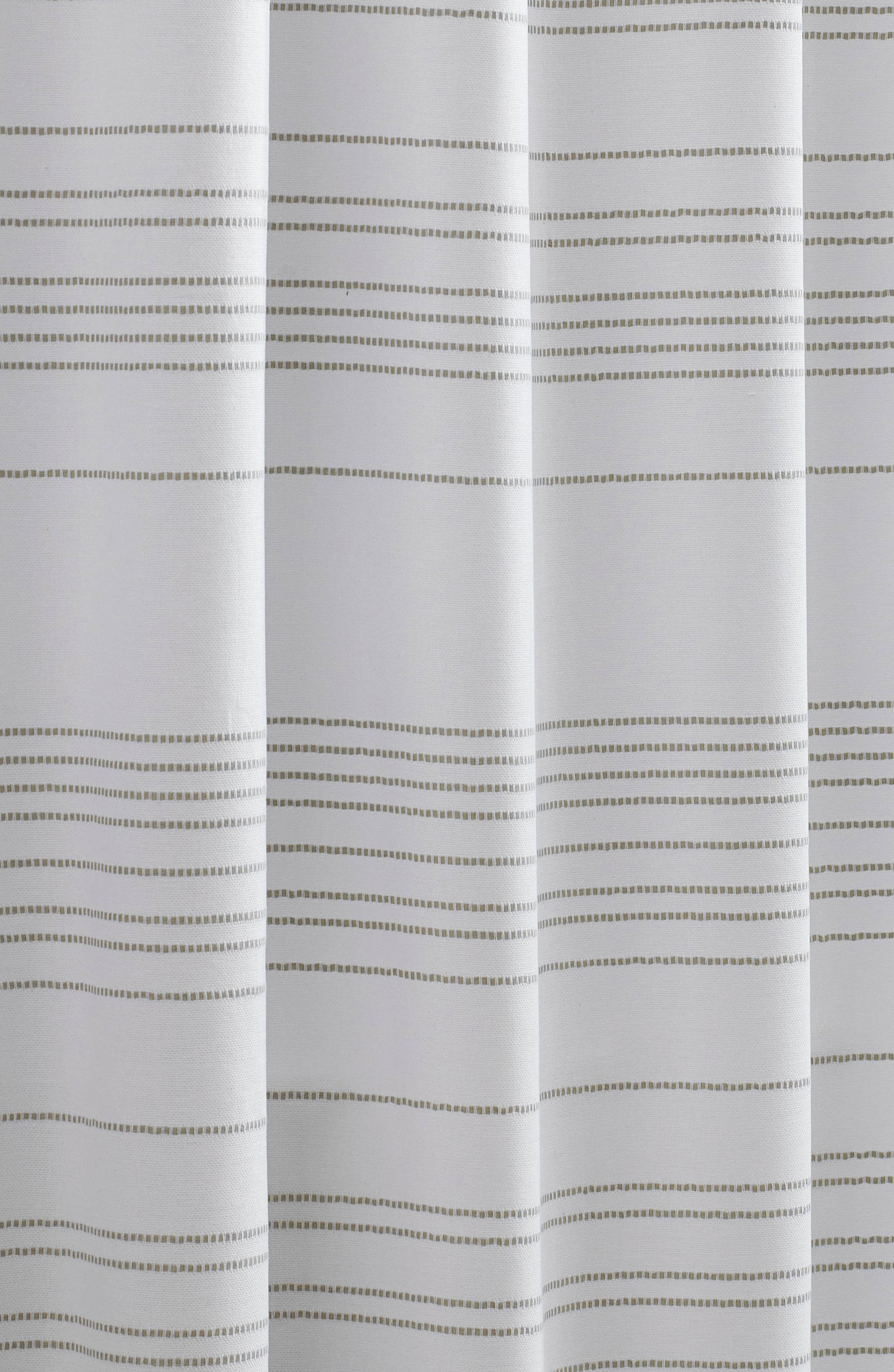 VERA WANG,                             Embroidered Stripe Shower Curtain,                             Alternate thumbnail 3, color,                             100