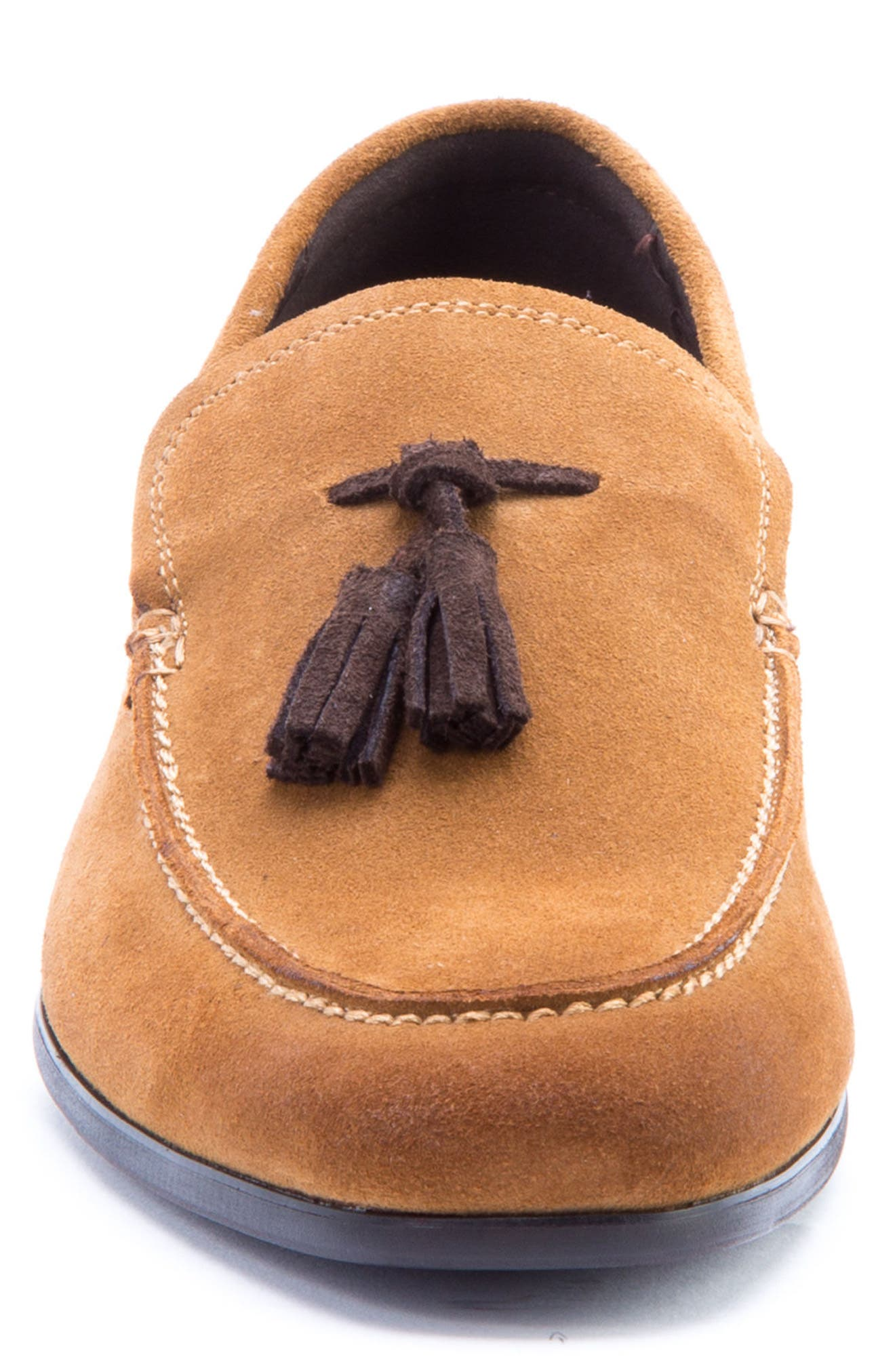 Severn Tassel Venetian Loafer,                             Alternate thumbnail 4, color,                             COGNAC SUEDE