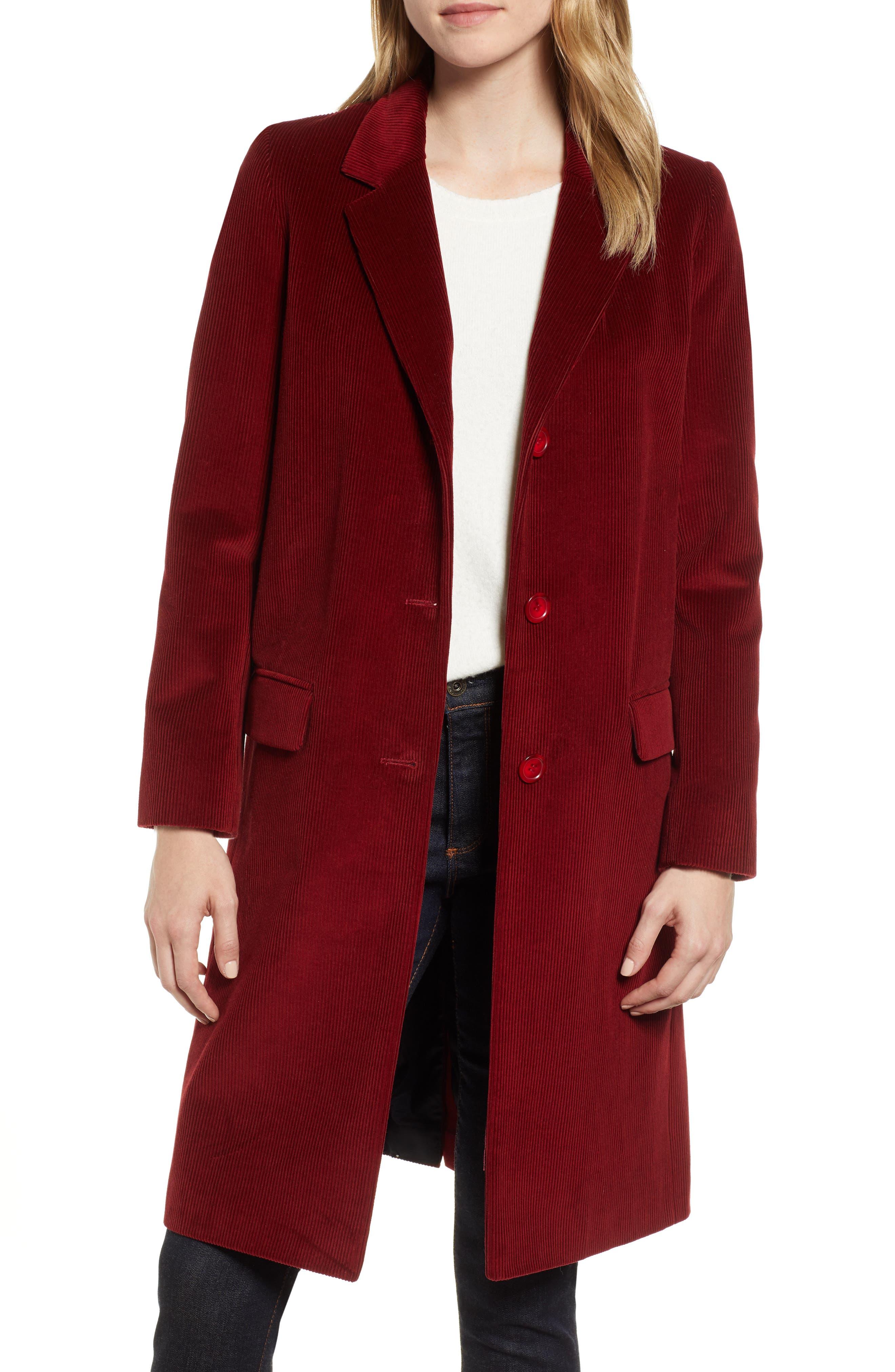 Corduroy College Coat, Main, color, 800