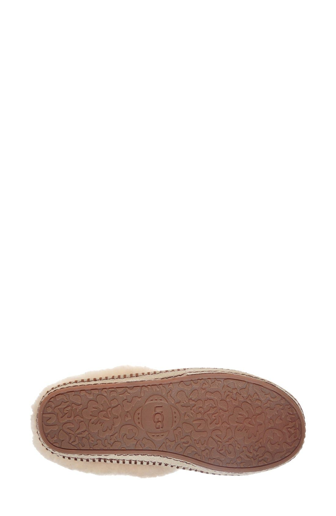 UGG<SUP>®</SUP>,                             Wrin Slipper,                             Alternate thumbnail 4, color,                             CHESTNUT SUEDE