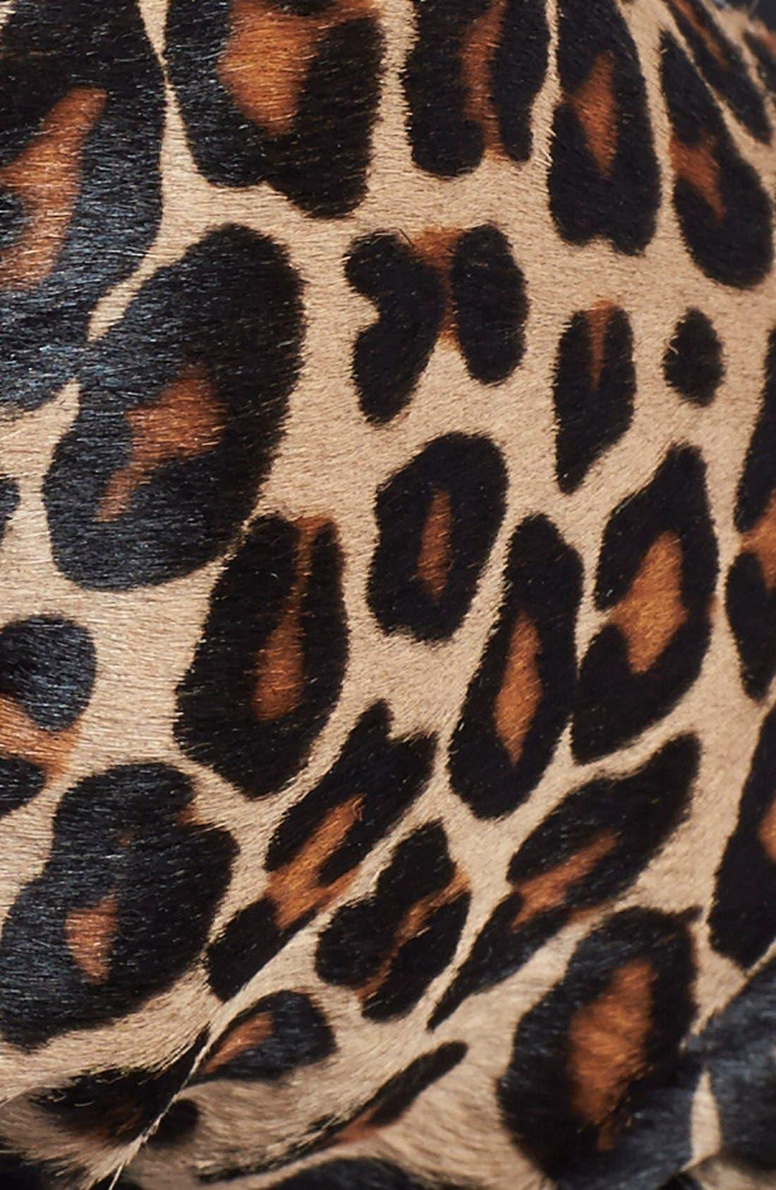 cheetah print calf hair & leather gloves,                             Alternate thumbnail 2, color,                             250