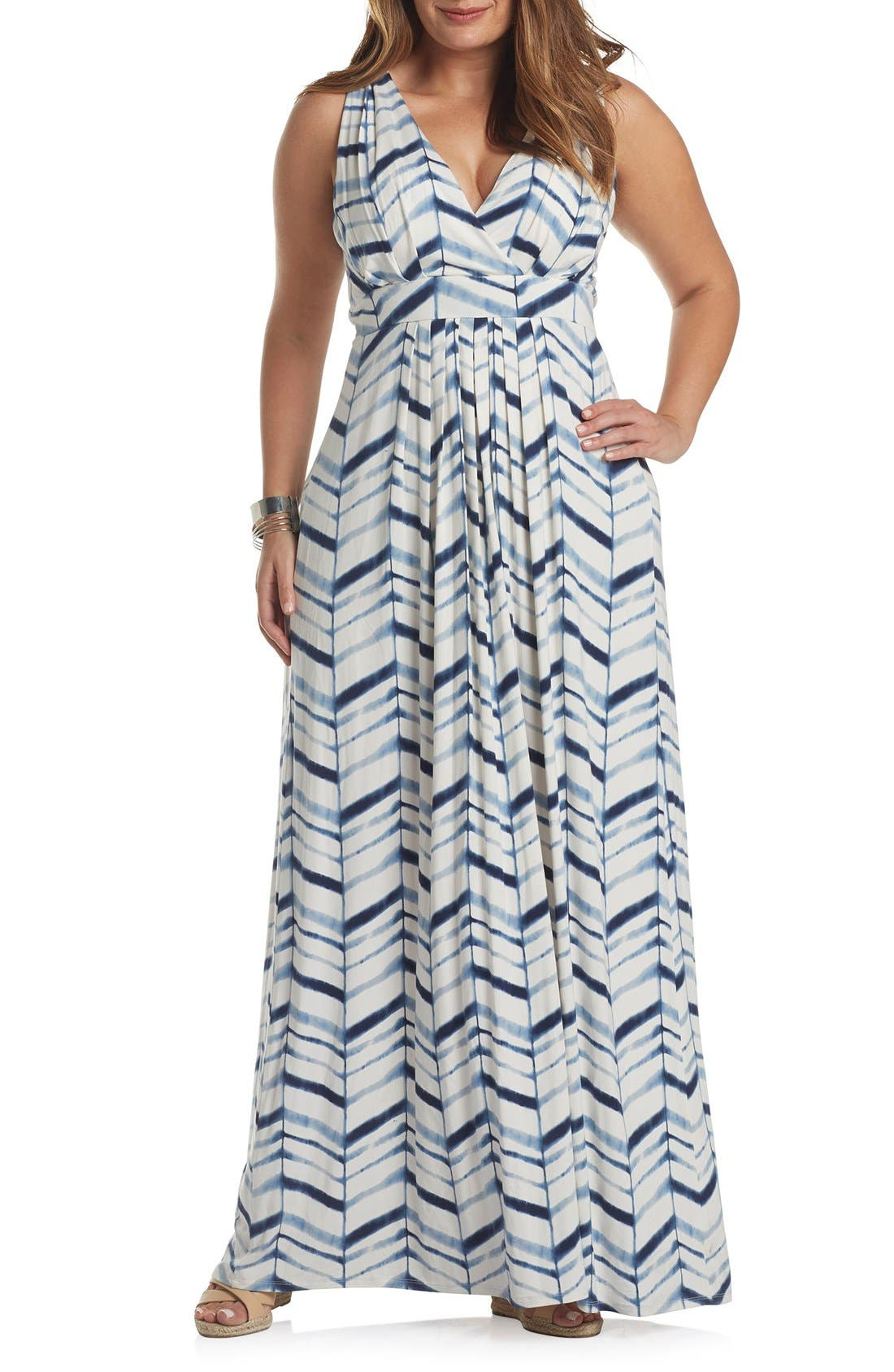 Chloe Empire Waist Maxi Dress,                             Main thumbnail 10, color,