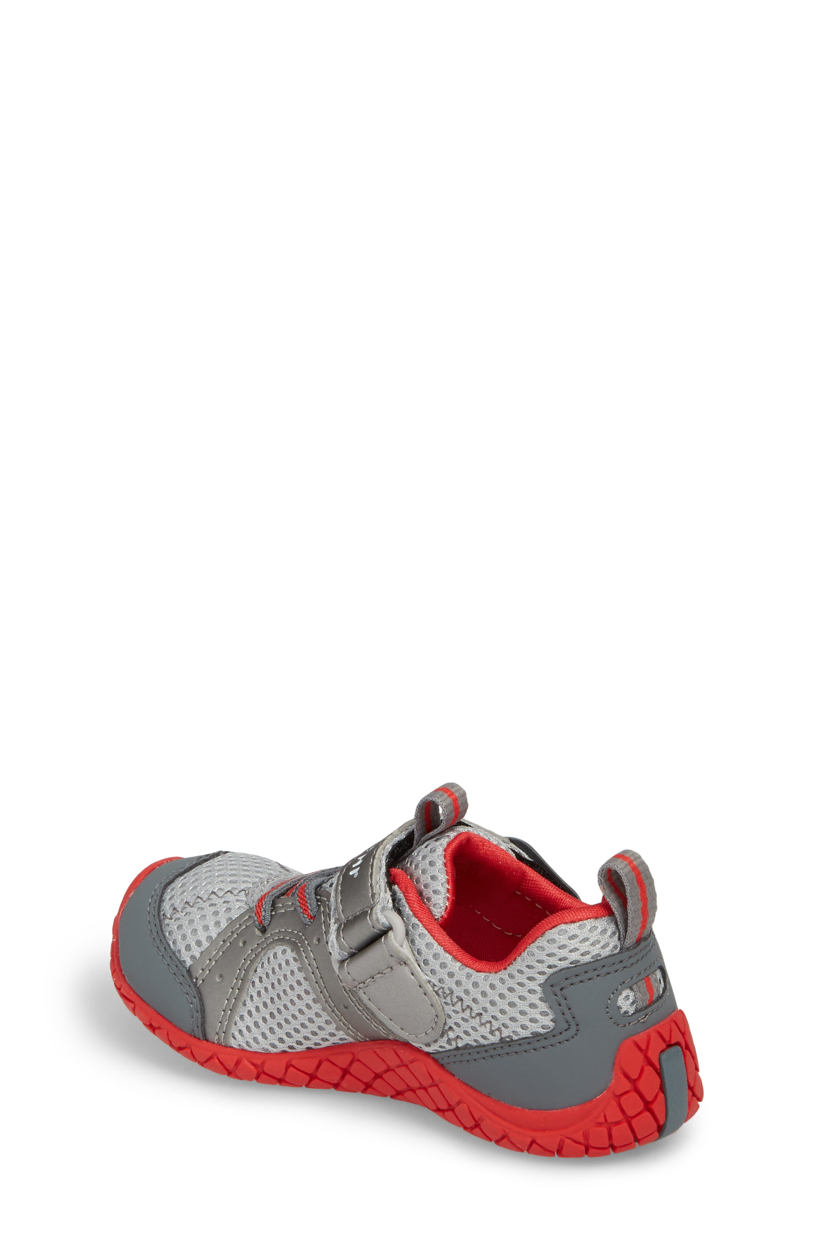 Marina Washable Sneaker,                             Alternate thumbnail 2, color,                             STEEL/ RED