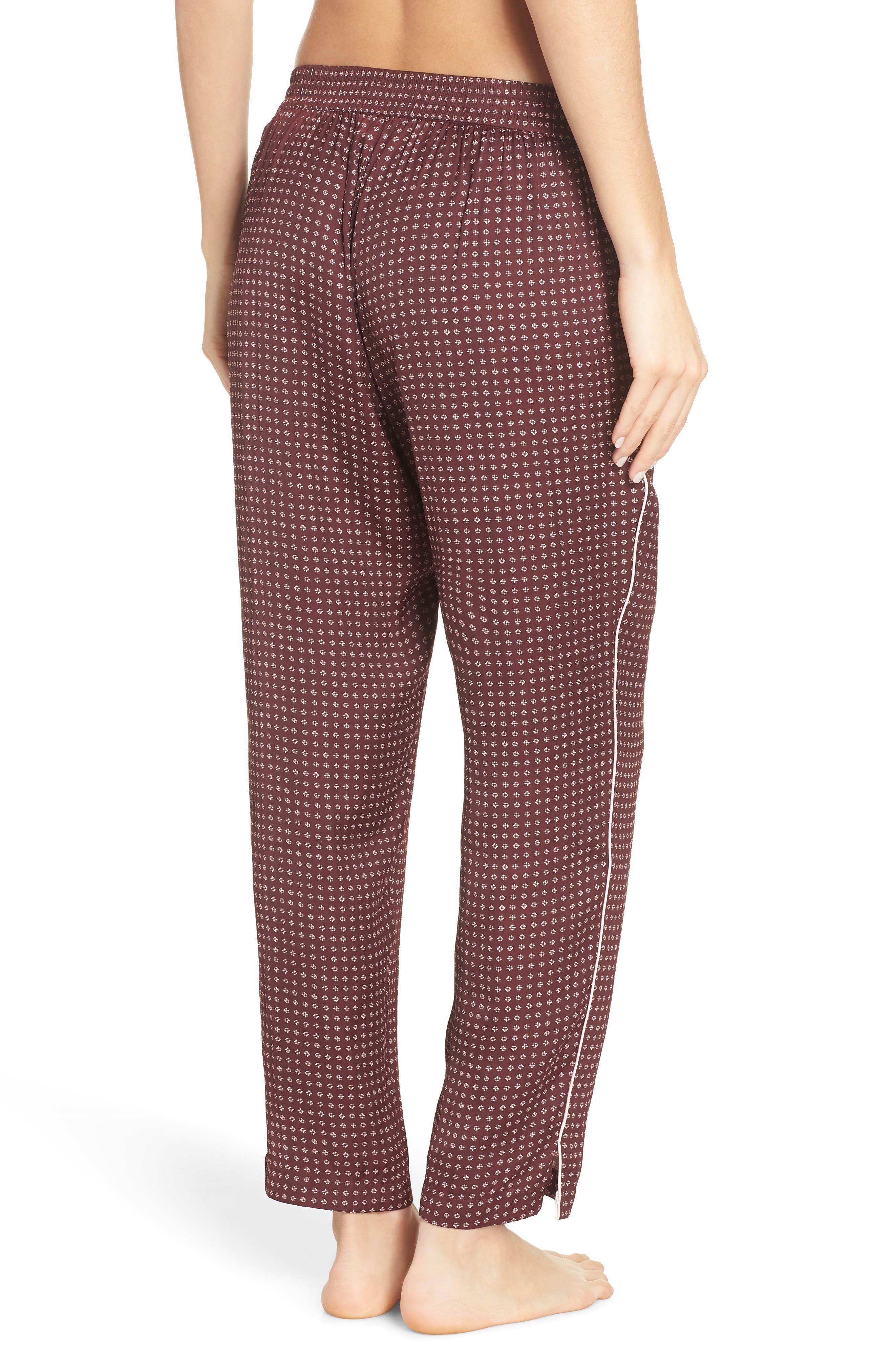 Satin Pajama Pants,                             Alternate thumbnail 3, color,                             610