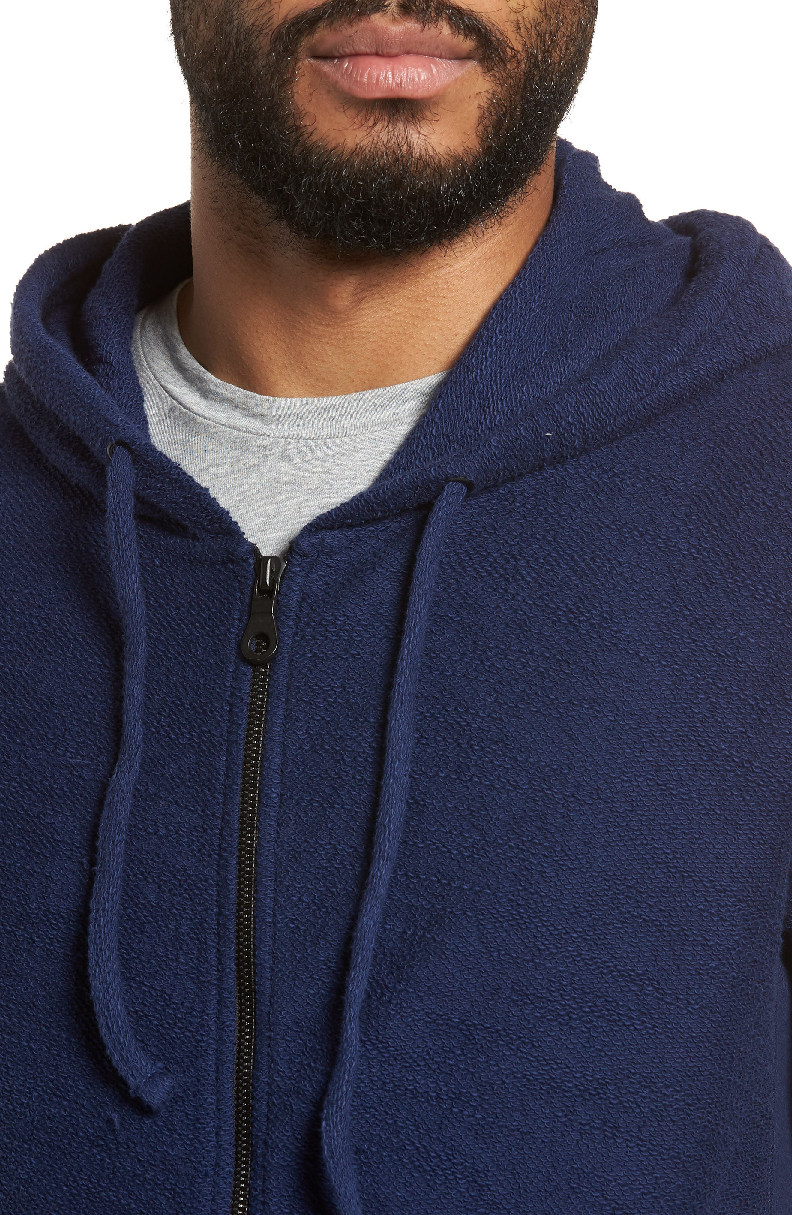Terrycloth Cotton Blend Zip Hoodie,                             Alternate thumbnail 12, color,