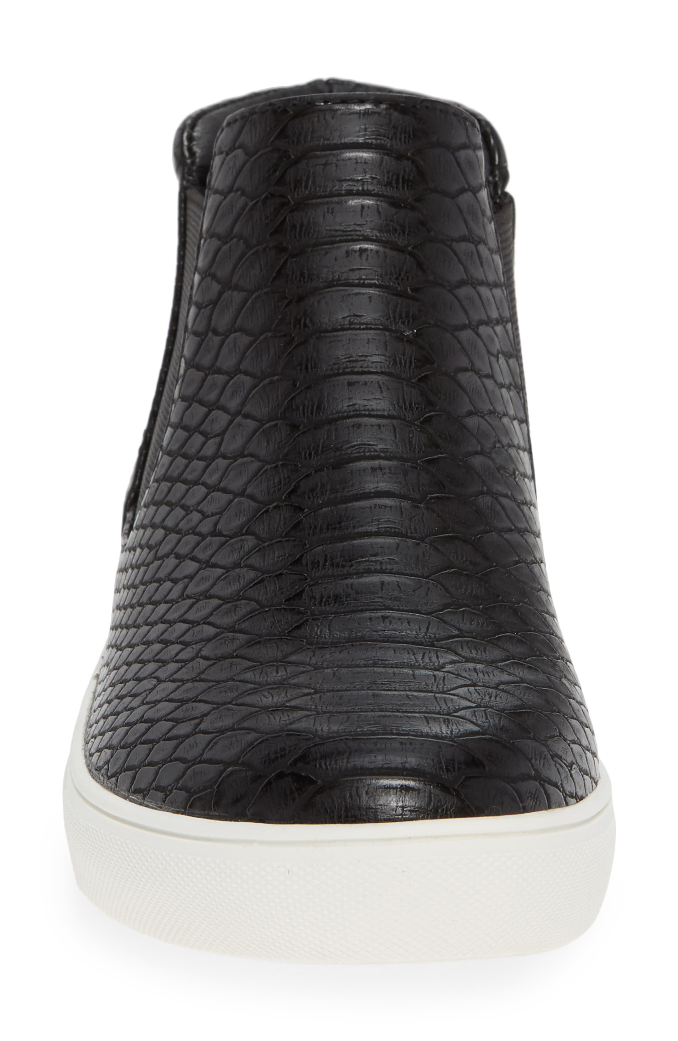 Harlan Slip-On Sneaker,                             Alternate thumbnail 4, color,                             BLACK SNAKE PRINT