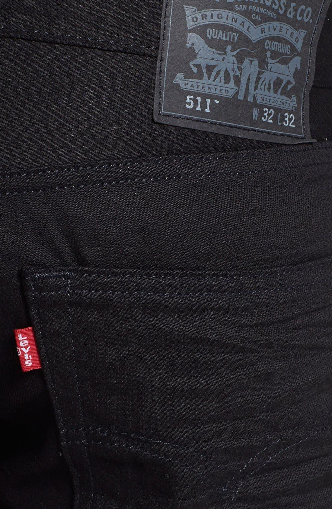 '511<sup>™</sup>' Slim Fit Jeans,                             Alternate thumbnail 4, color,                             001